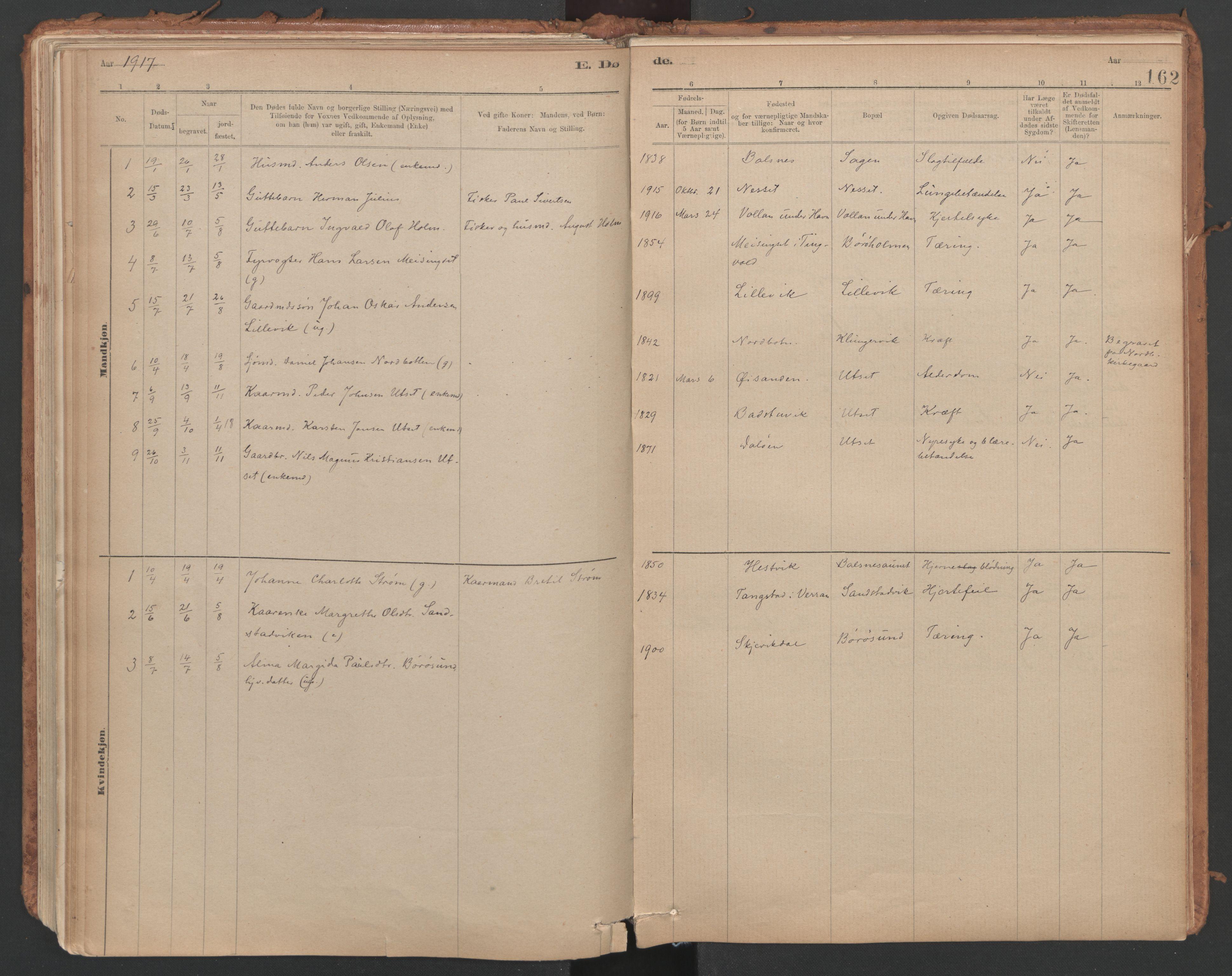 SAT, Ministerialprotokoller, klokkerbøker og fødselsregistre - Sør-Trøndelag, 639/L0572: Ministerialbok nr. 639A01, 1890-1920, s. 162