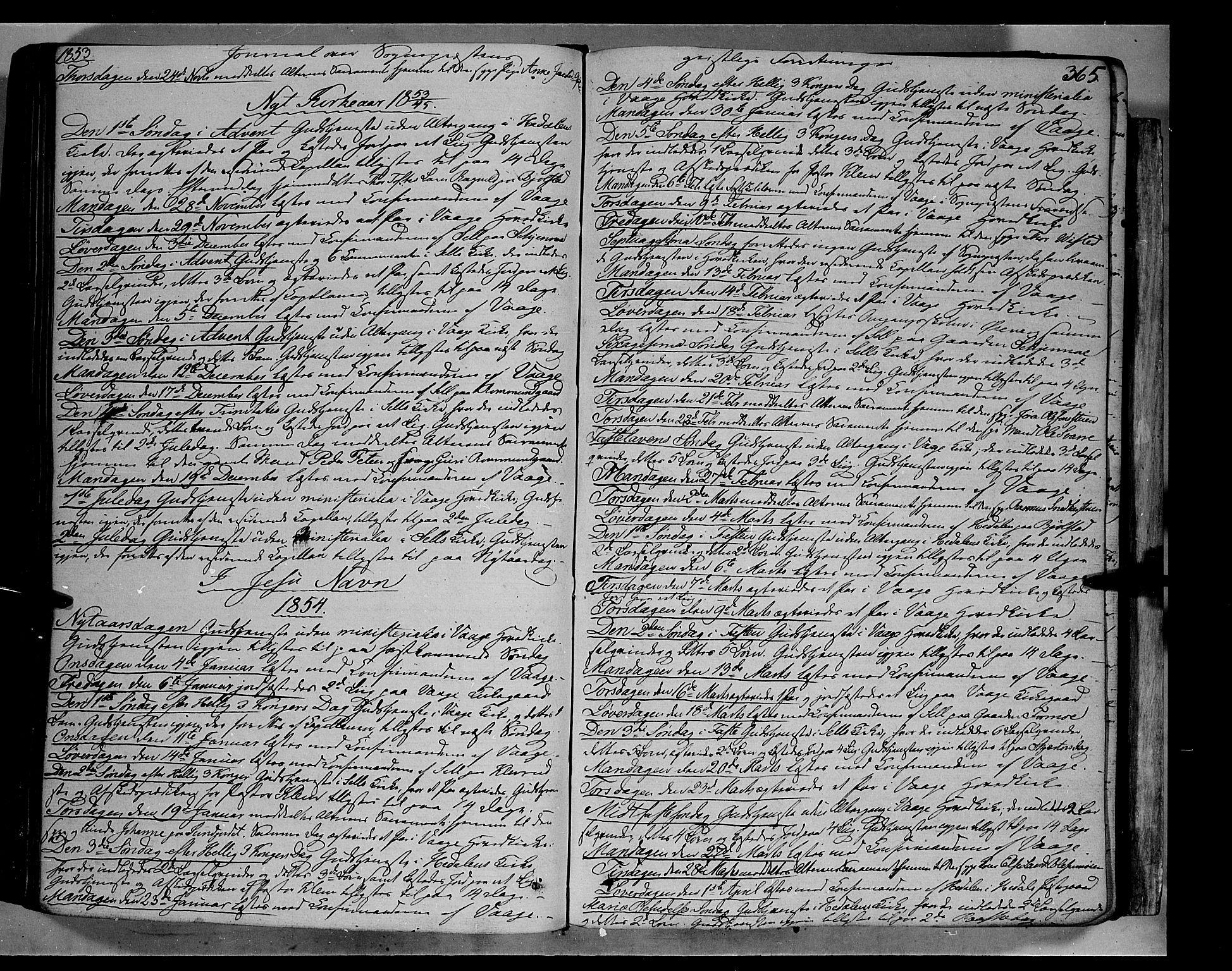 SAH, Vågå prestekontor, Ministerialbok nr. 5 /1, 1842-1856, s. 365