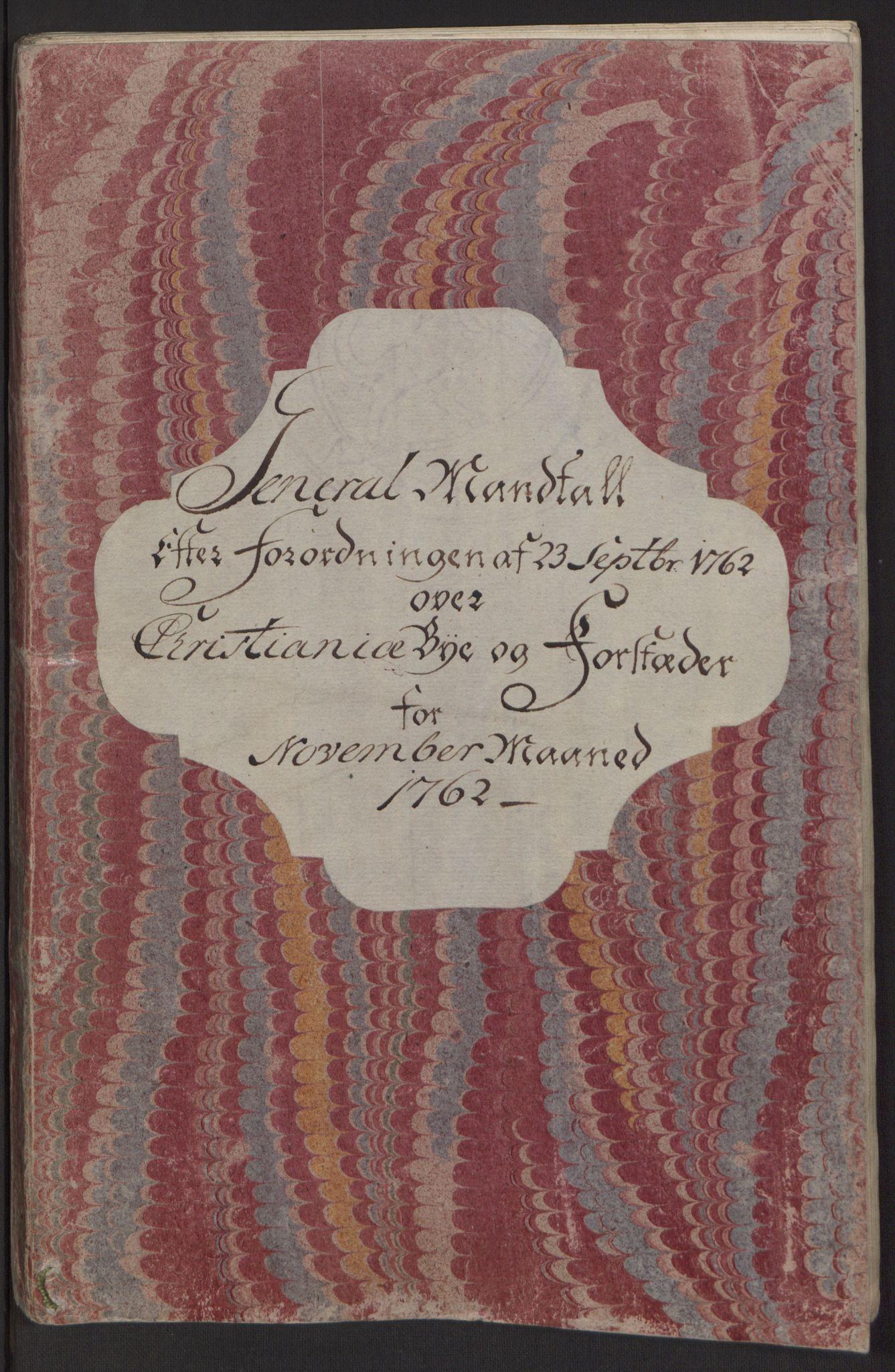 RA, Rentekammeret inntil 1814, Reviderte regnskaper, Byregnskaper, R/Re/L0071: [E13] Kontribusjonsregnskap, 1762, s. 75