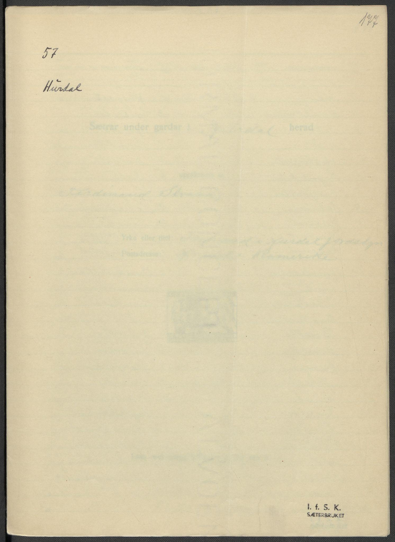 RA, Instituttet for sammenlignende kulturforskning, F/Fc/L0002: Eske B2:, 1932-1936, s. 177