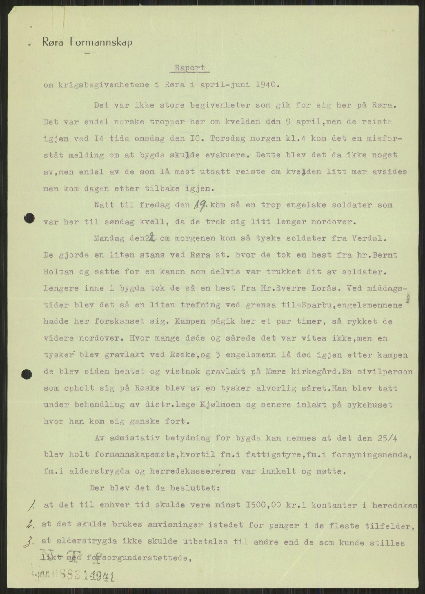 RA, Forsvaret, Forsvarets krigshistoriske avdeling, Y/Ya/L0016: II-C-11-31 - Fylkesmenn.  Rapporter om krigsbegivenhetene 1940., 1940, s. 554