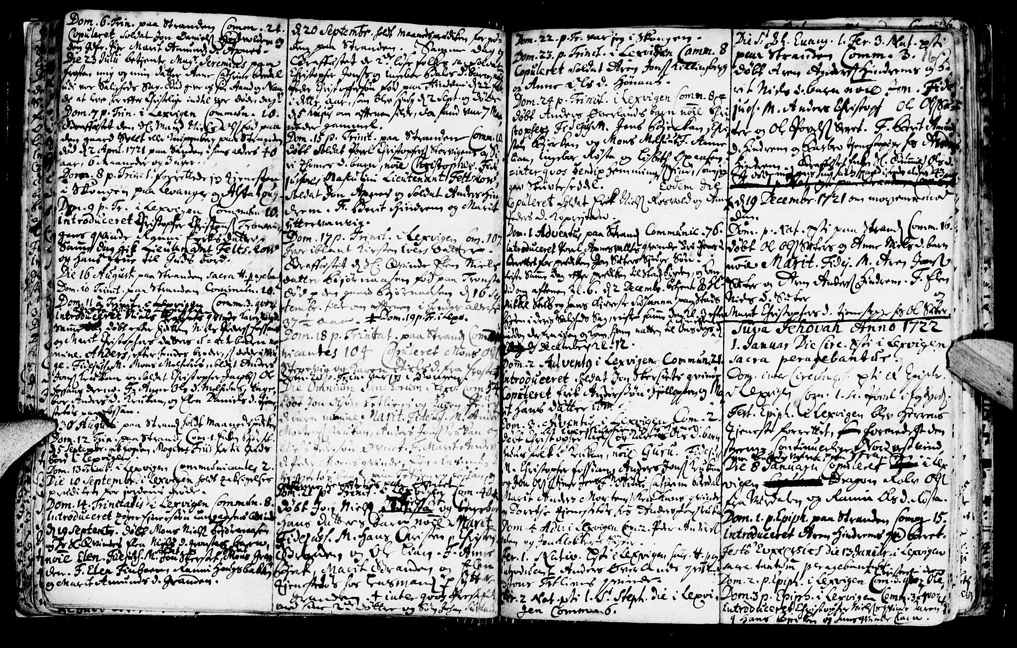 SAT, Ministerialprotokoller, klokkerbøker og fødselsregistre - Nord-Trøndelag, 701/L0001: Ministerialbok nr. 701A01, 1717-1731, s. 16