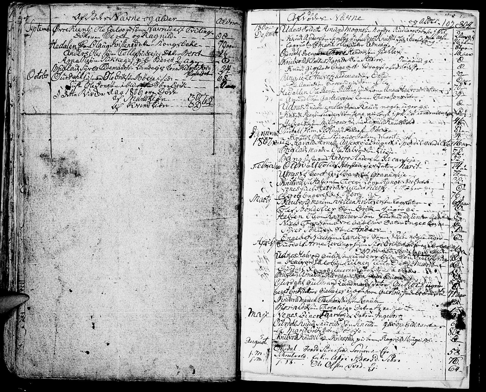 SAH, Aurdal prestekontor, Ministerialbok nr. 7, 1800-1808, s. 102