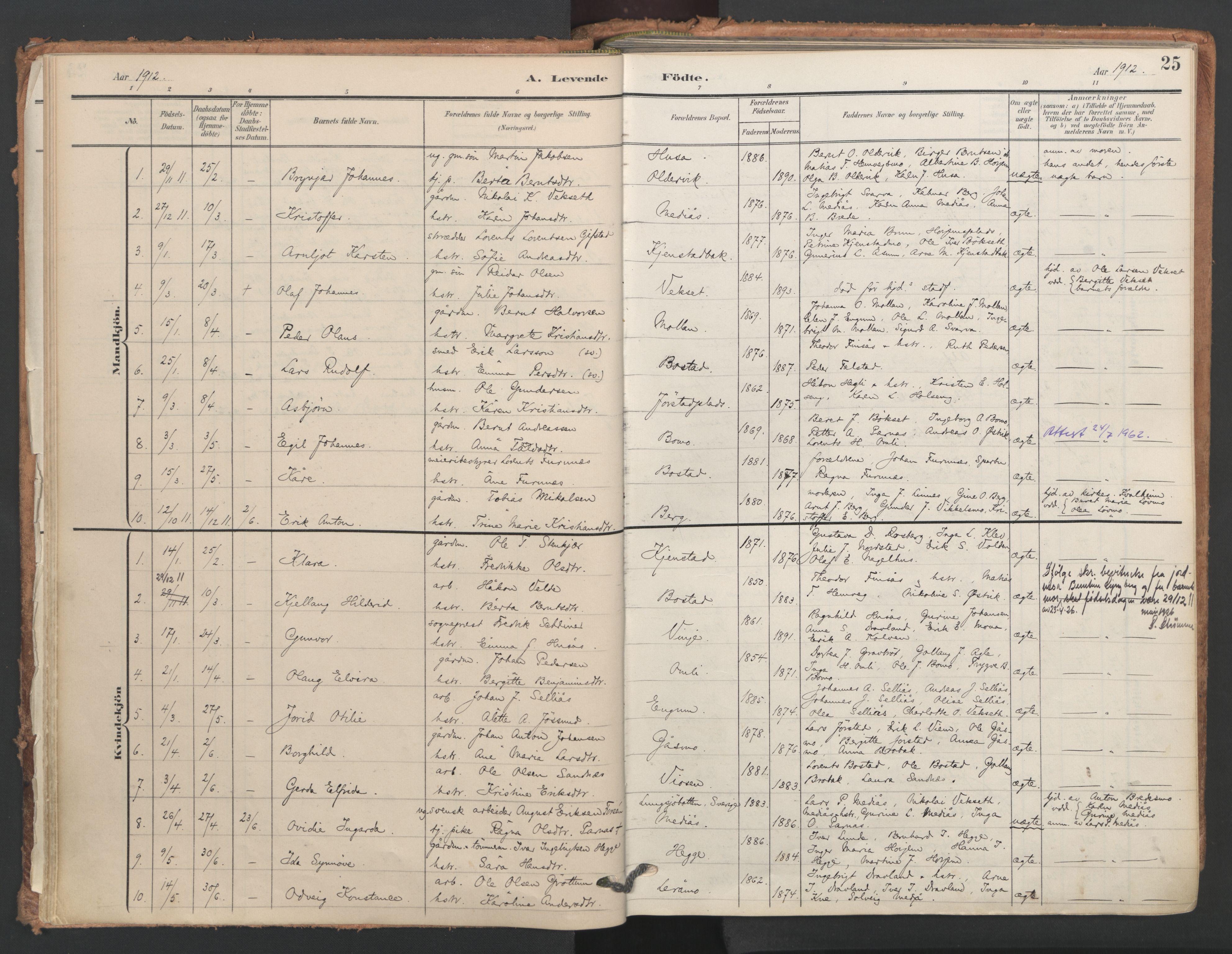 SAT, Ministerialprotokoller, klokkerbøker og fødselsregistre - Nord-Trøndelag, 749/L0477: Ministerialbok nr. 749A11, 1902-1927, s. 25