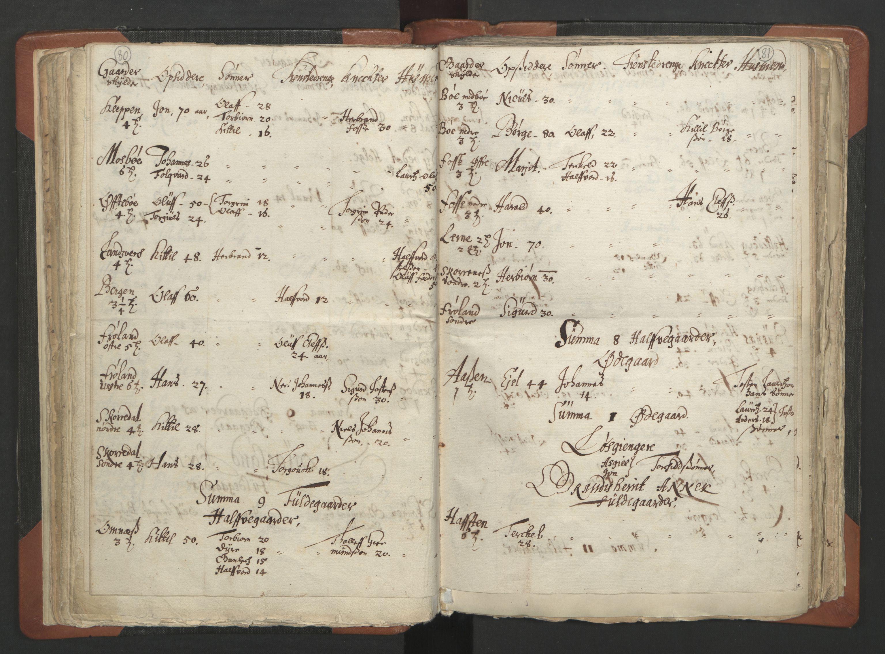 RA, Sogneprestenes manntall 1664-1666, nr. 12: Øvre Telemark prosti, Nedre Telemark prosti og Bamble prosti, 1664-1666, s. 80-81