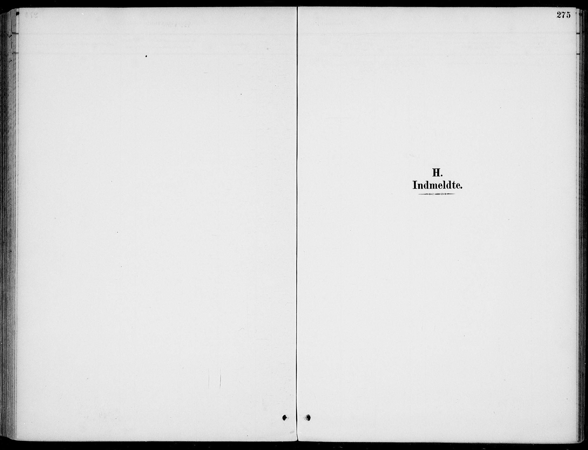 SAKO, Sigdal kirkebøker, F/Fb/L0001: Ministerialbok nr. II 1, 1888-1900, s. 275