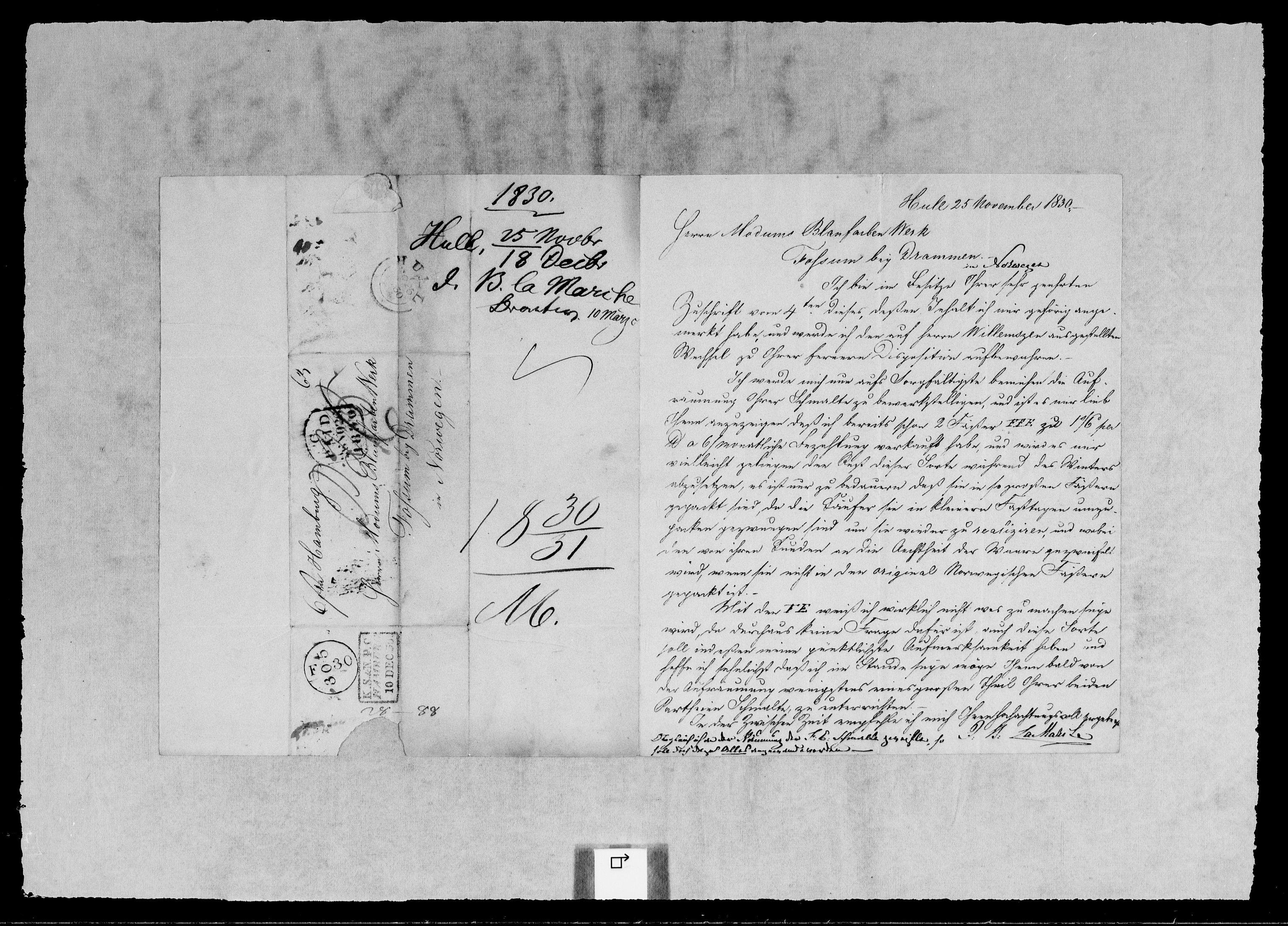 RA, Modums Blaafarveværk, G/Gb/L0106, 1830-1831, s. 2