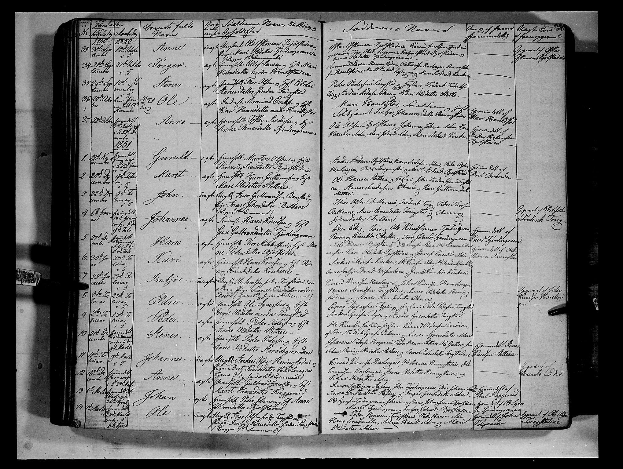 SAH, Vågå prestekontor, Ministerialbok nr. 5 /2, 1842-1856, s. 236