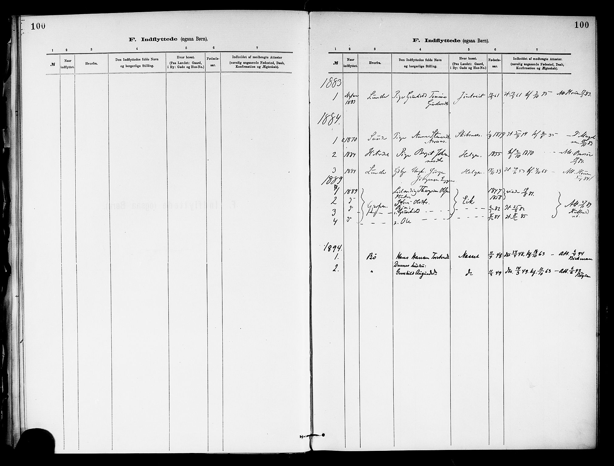 SAKO, Holla kirkebøker, F/Fa/L0009: Ministerialbok nr. 9, 1881-1897, s. 100