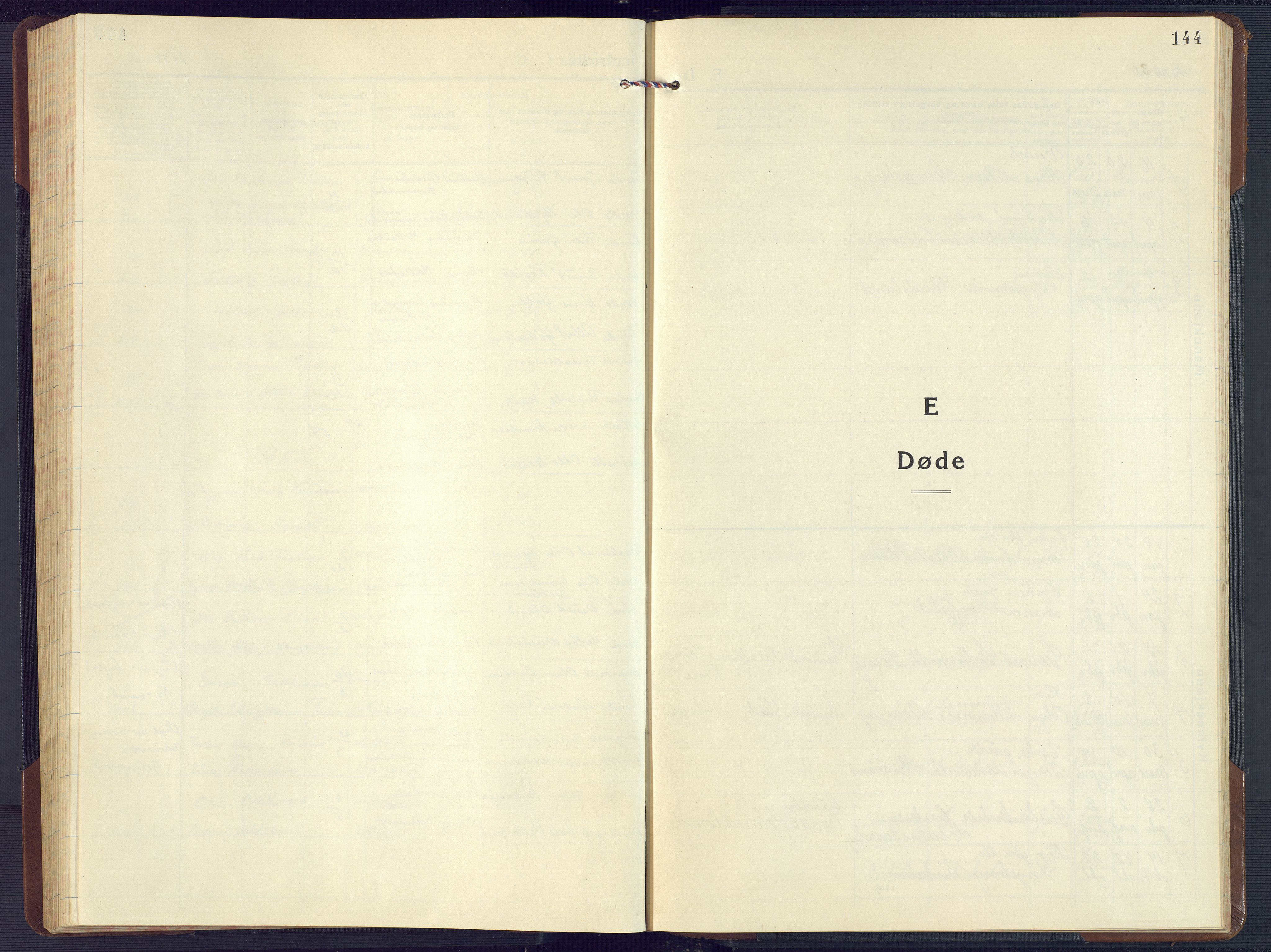 SAK, Birkenes sokneprestkontor, F/Fb/L0005: Klokkerbok nr. B 5, 1930-1957, s. 144