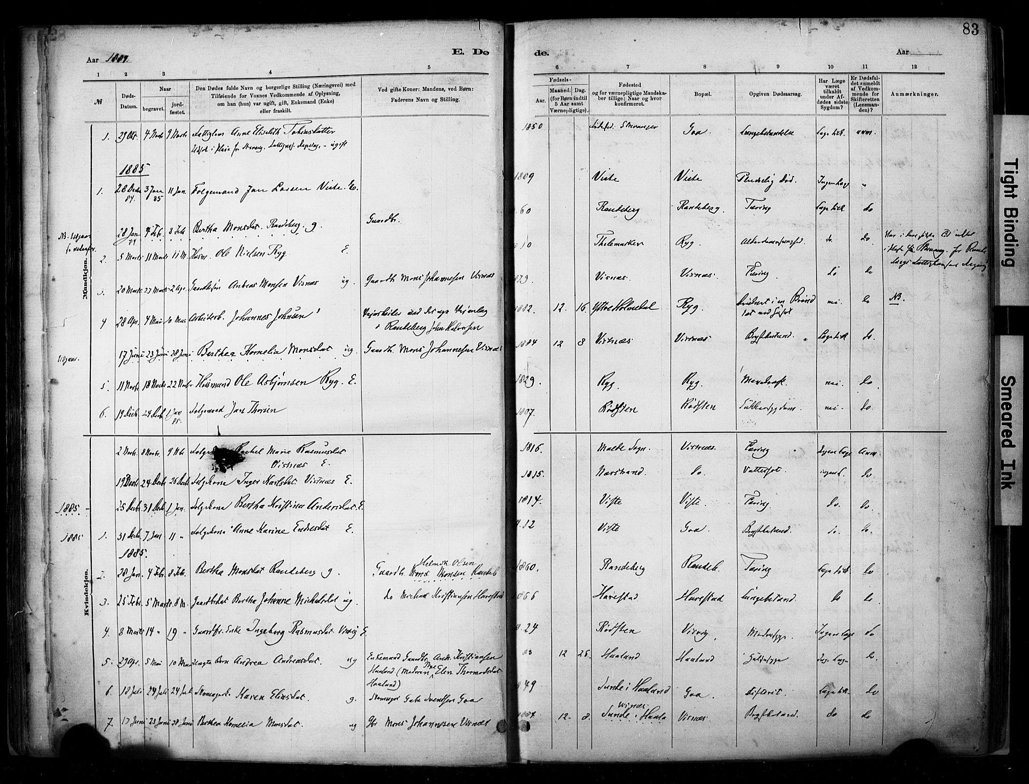 SAST, Hetland sokneprestkontor, 30/30BA/L0009: Ministerialbok nr. A 9, 1882-1918, s. 83