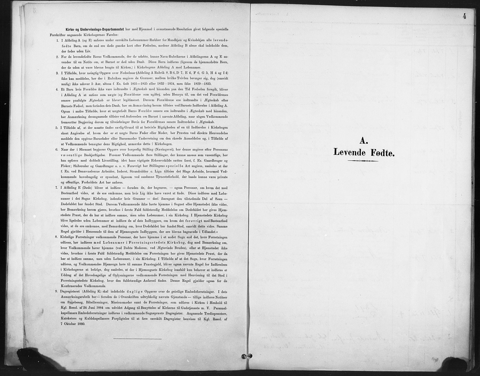 SAT, Ministerialprotokoller, klokkerbøker og fødselsregistre - Nord-Trøndelag, 718/L0175: Ministerialbok nr. 718A01, 1890-1923, s. 4
