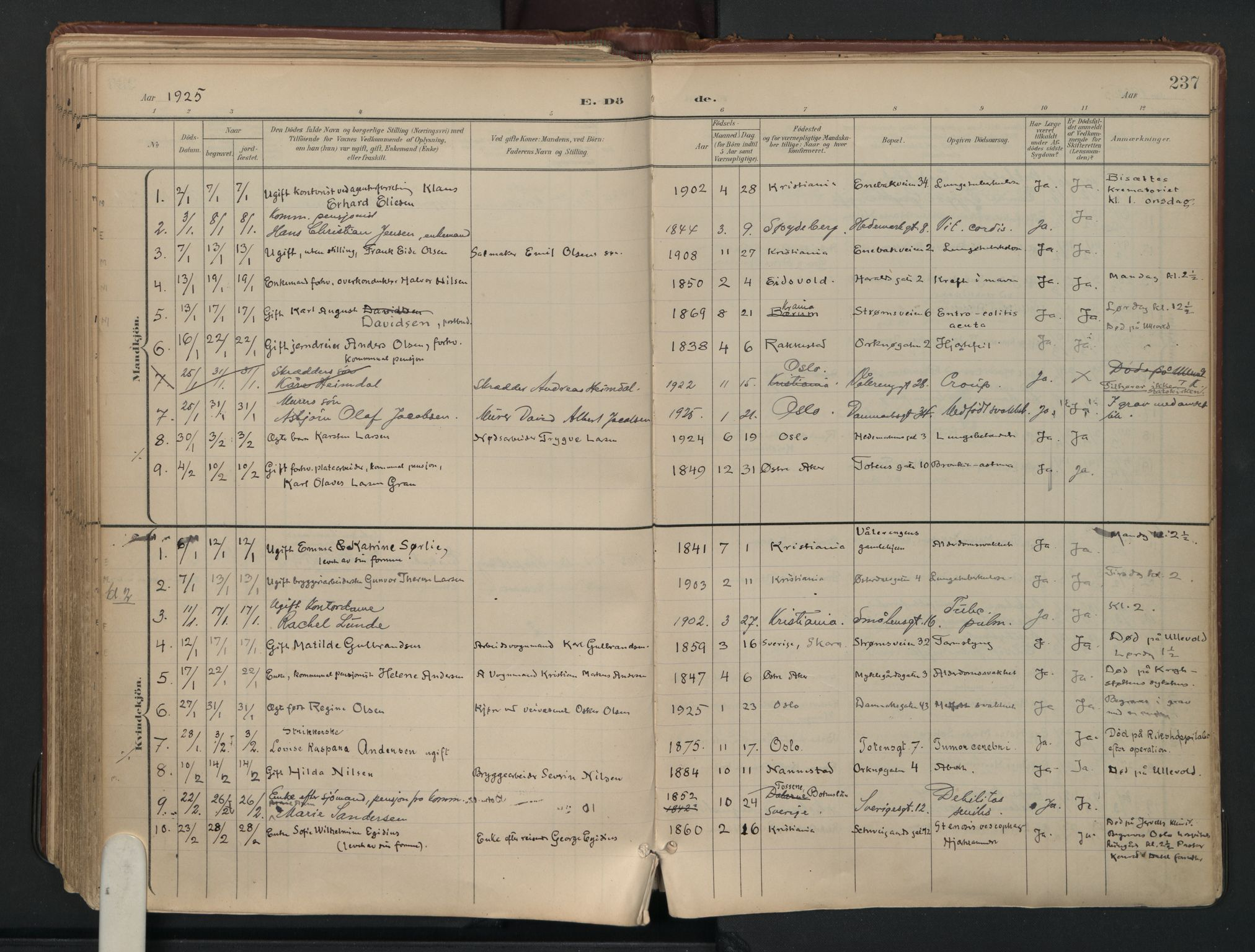 SAO, Vålerengen prestekontor Kirkebøker, F/Fa/L0003: Ministerialbok nr. 3, 1899-1930, s. 237