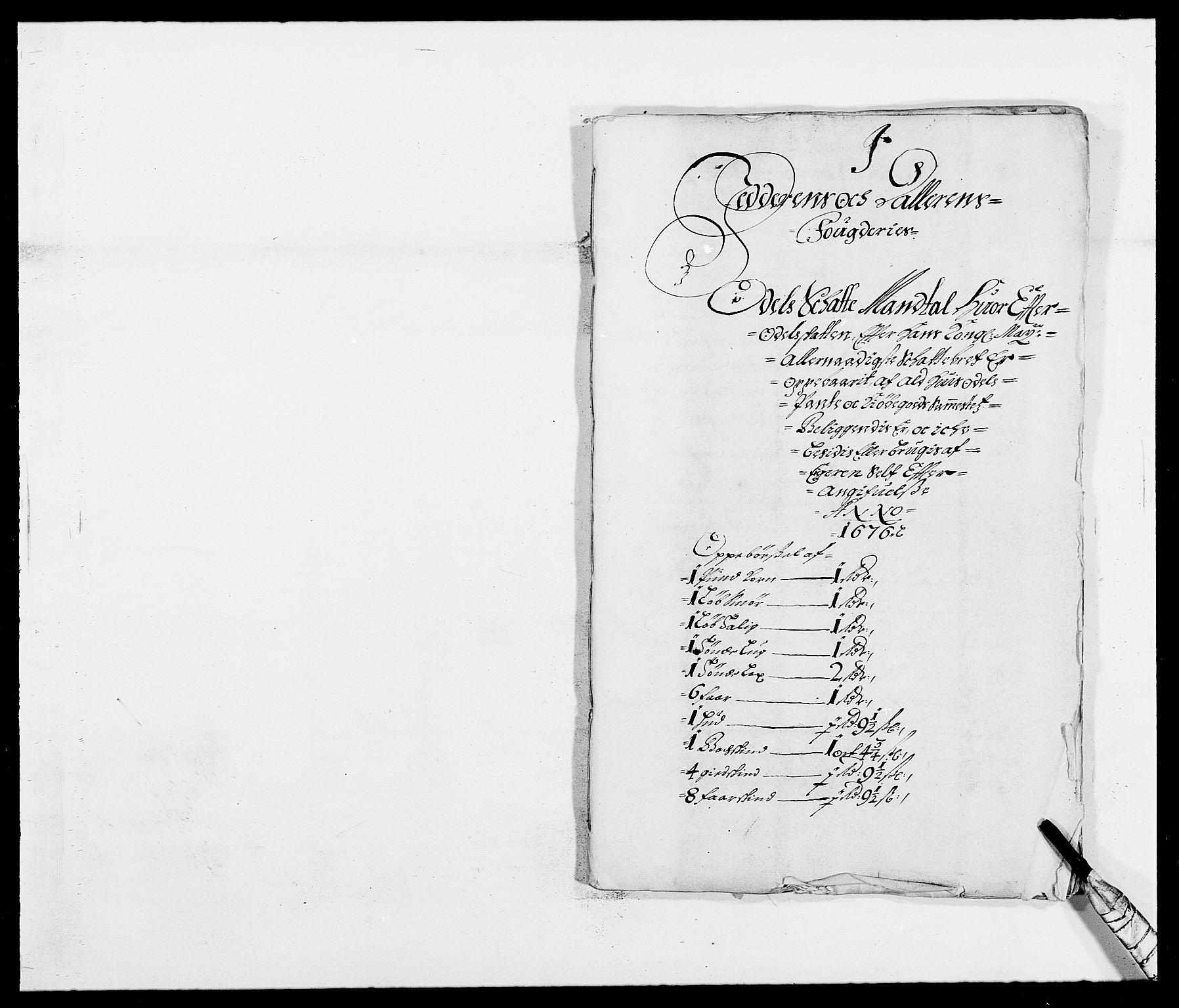 RA, Rentekammeret inntil 1814, Reviderte regnskaper, Fogderegnskap, R46/L2716: Fogderegnskap Jæren og Dalane, 1676, s. 287
