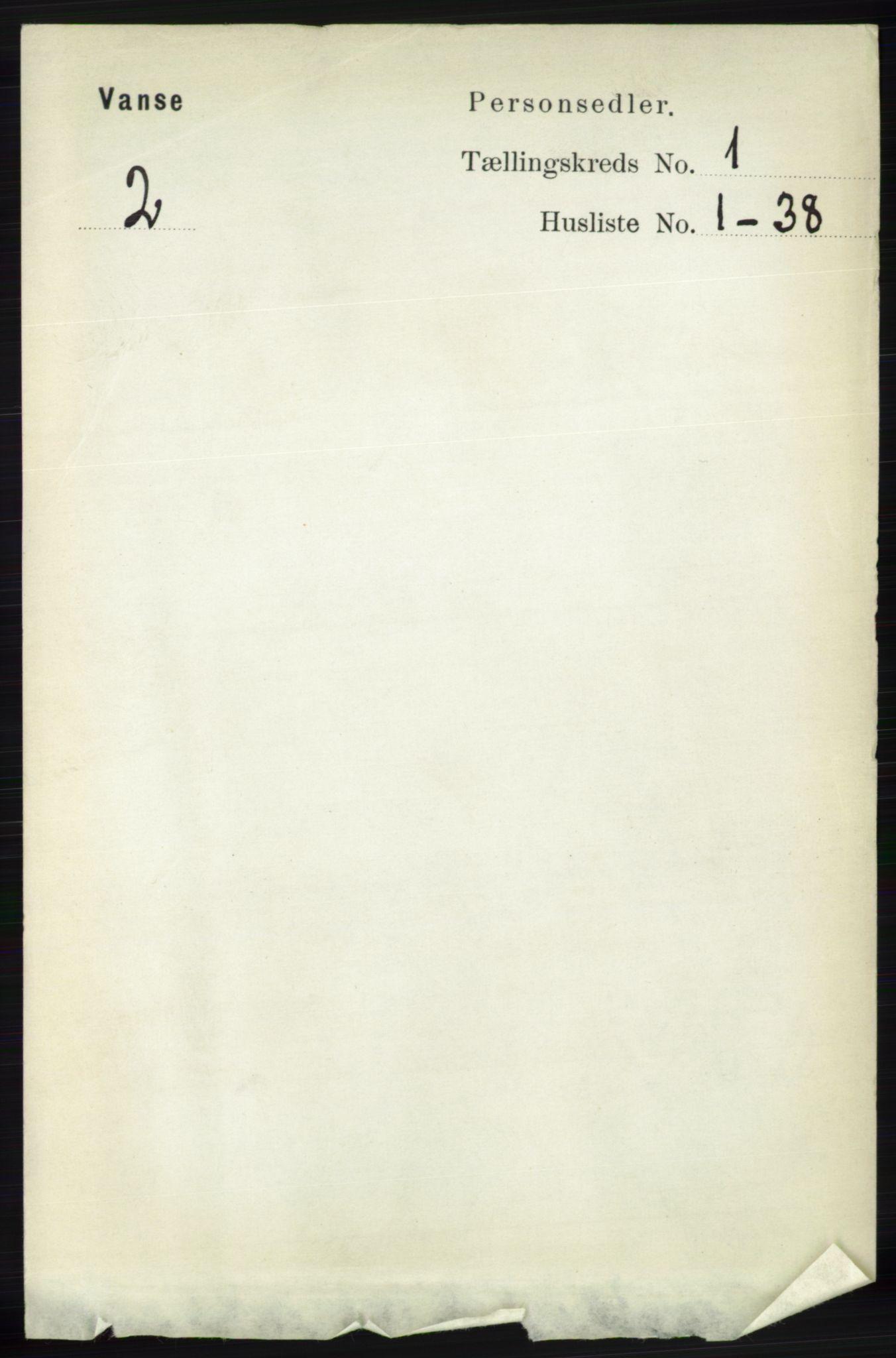 RA, Folketelling 1891 for 1041 Vanse herred, 1891, s. 128