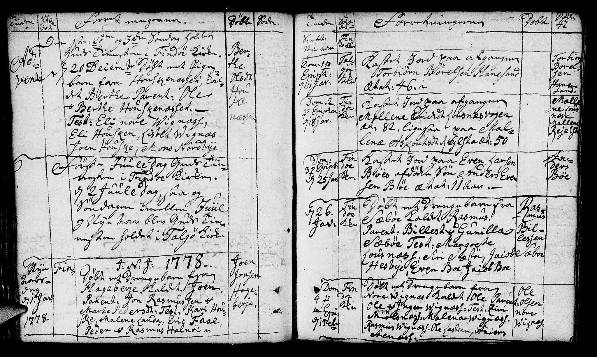 SAST, Finnøy sokneprestkontor, H/Ha/Haa/L0005: Ministerialbok nr. A 5, 1773-1816, s. 42