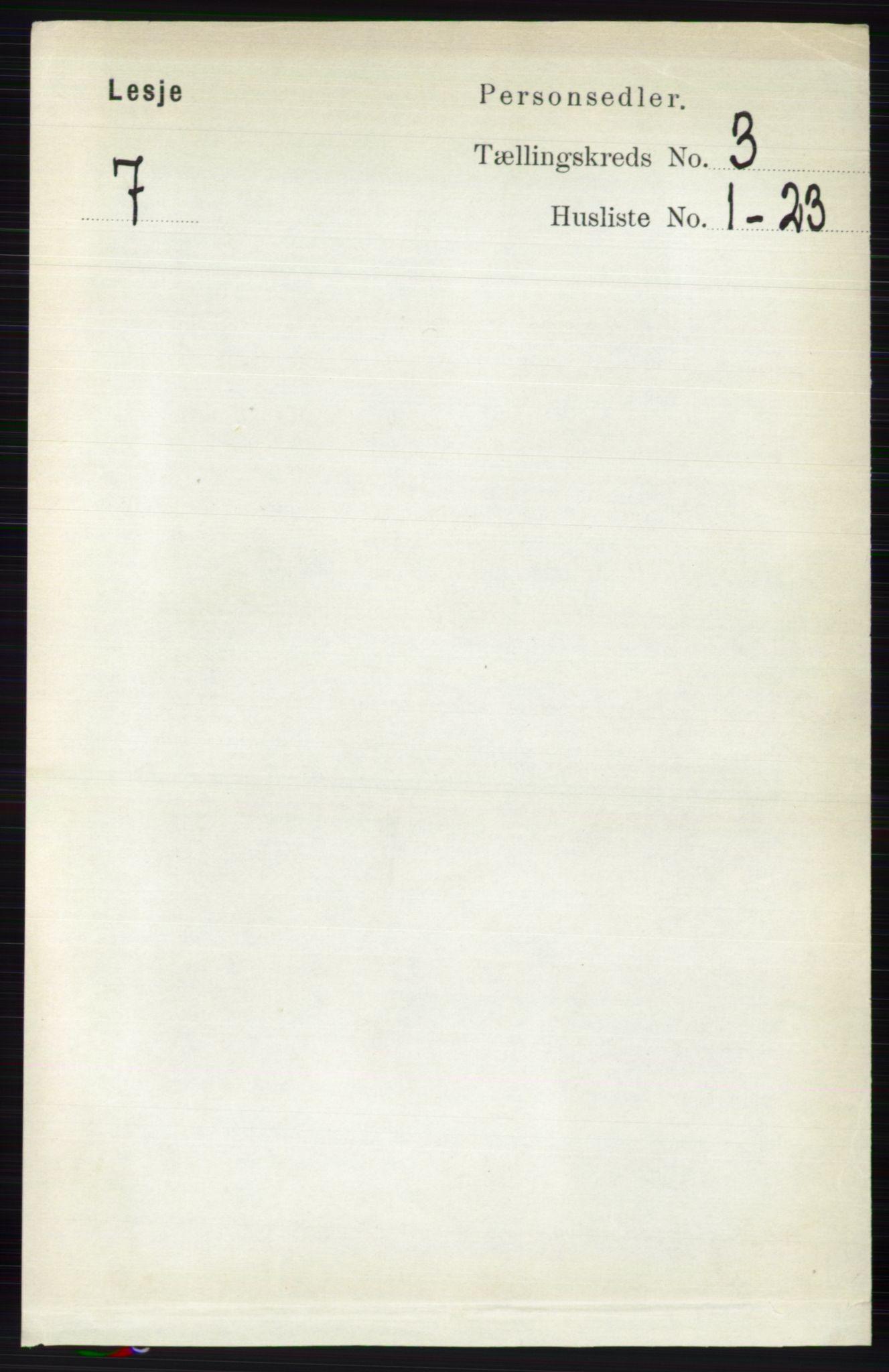 RA, Folketelling 1891 for 0512 Lesja herred, 1891, s. 631