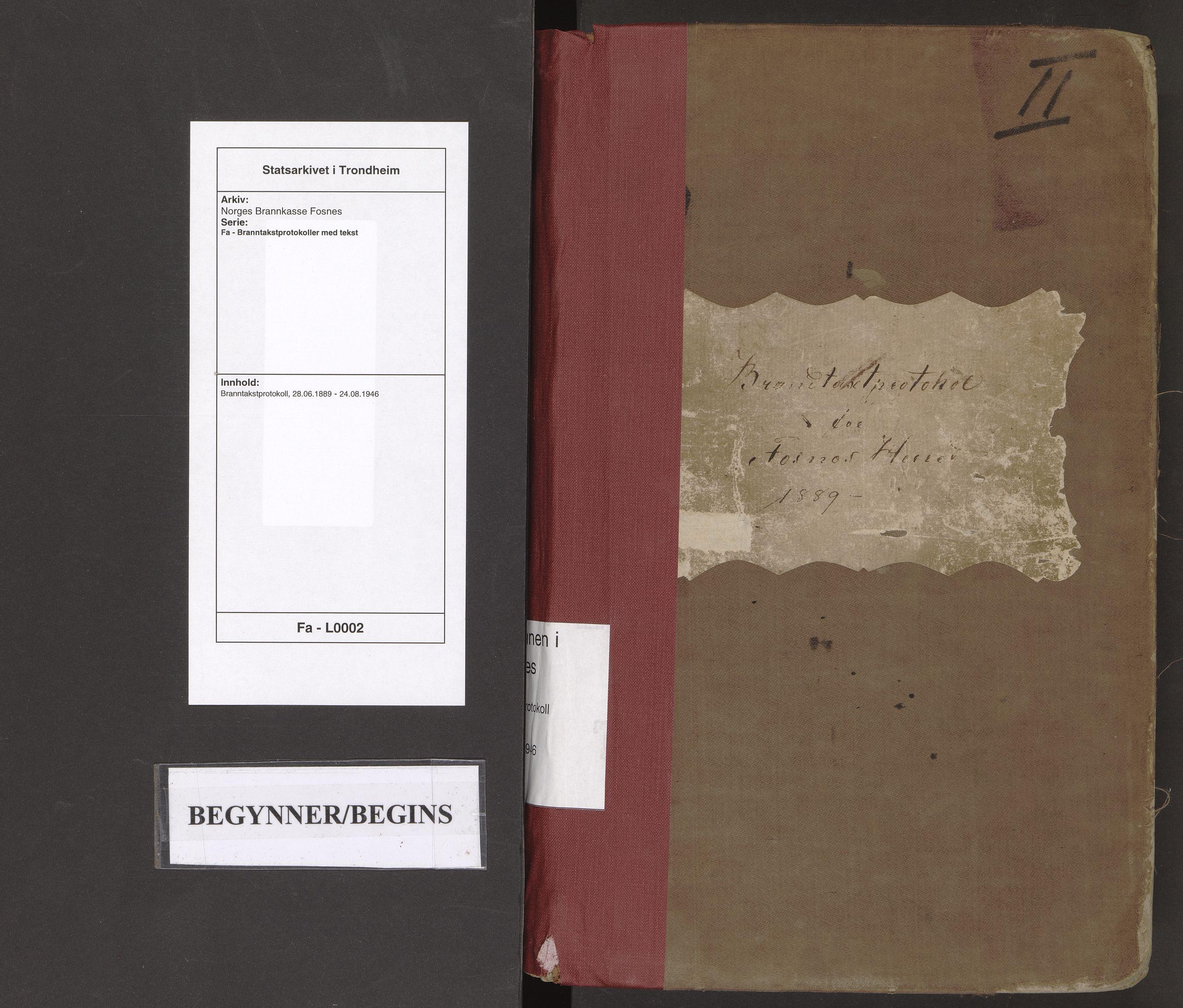 SAT, Norges Brannkasse Fosnes, Fa/L0002: Branntakstprotokoll, 1889-1946