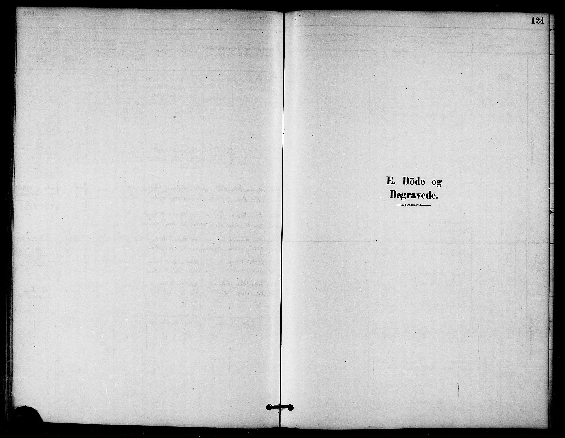 SAT, Ministerialprotokoller, klokkerbøker og fødselsregistre - Nord-Trøndelag, 766/L0563: Ministerialbok nr. 767A01, 1881-1899, s. 124