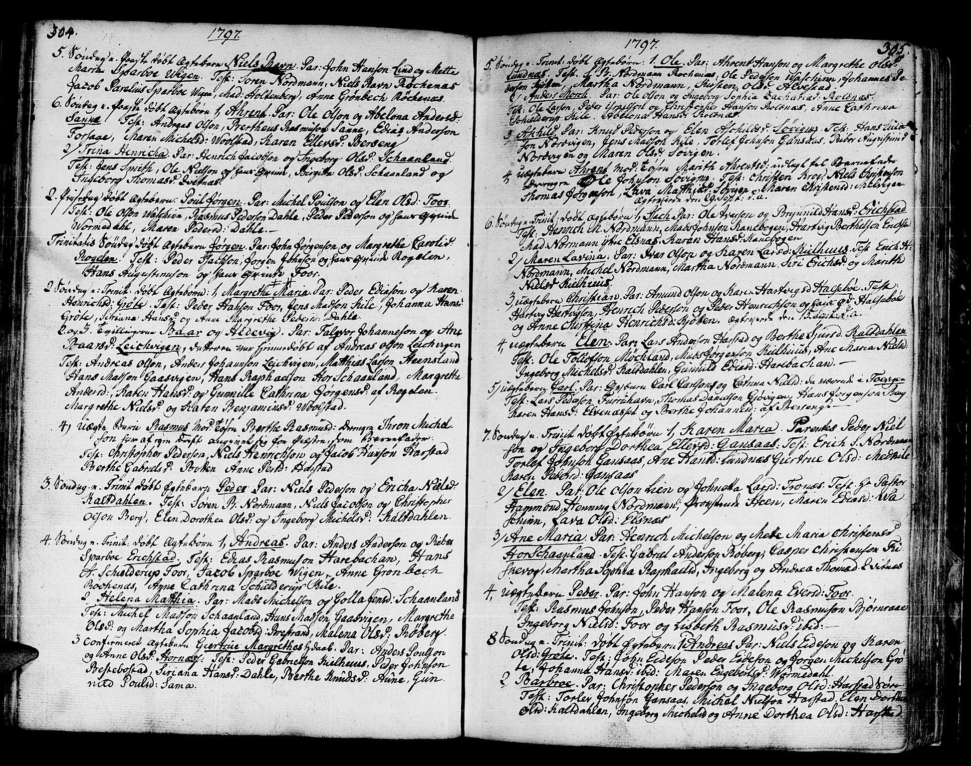 SATØ, Trondenes sokneprestkontor, H/Ha/L0003kirke: Ministerialbok nr. 3, 1783-1803, s. 304-305