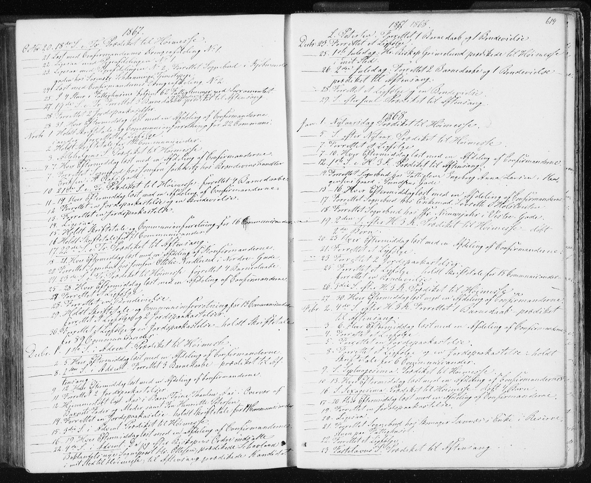 SAT, Ministerialprotokoller, klokkerbøker og fødselsregistre - Sør-Trøndelag, 601/L0055: Ministerialbok nr. 601A23, 1866-1877, s. 619