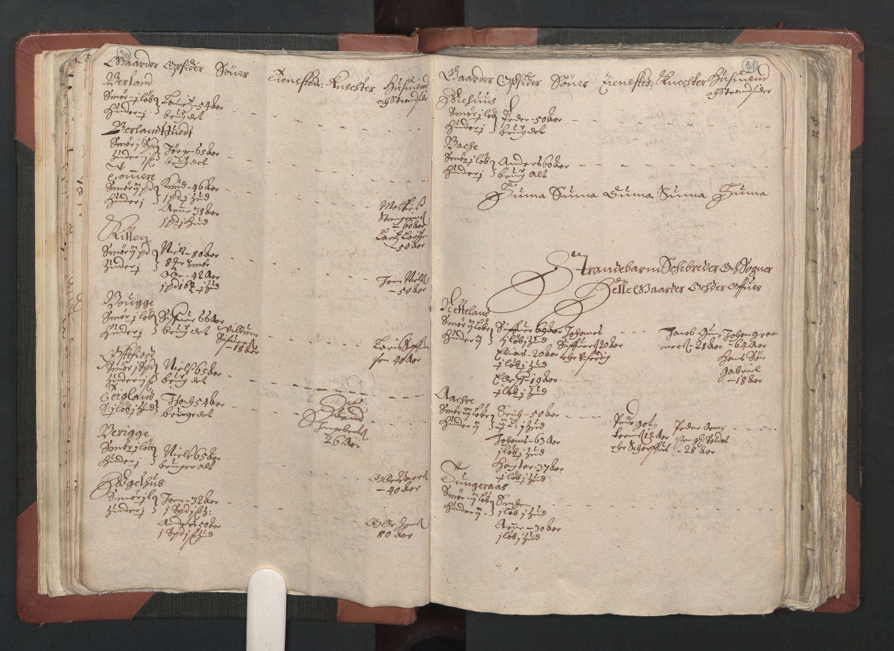 RA, Fogdenes og sorenskrivernes manntall 1664-1666, nr. 13: Nordhordland fogderi og Sunnhordland fogderi, 1665, s. 30-31