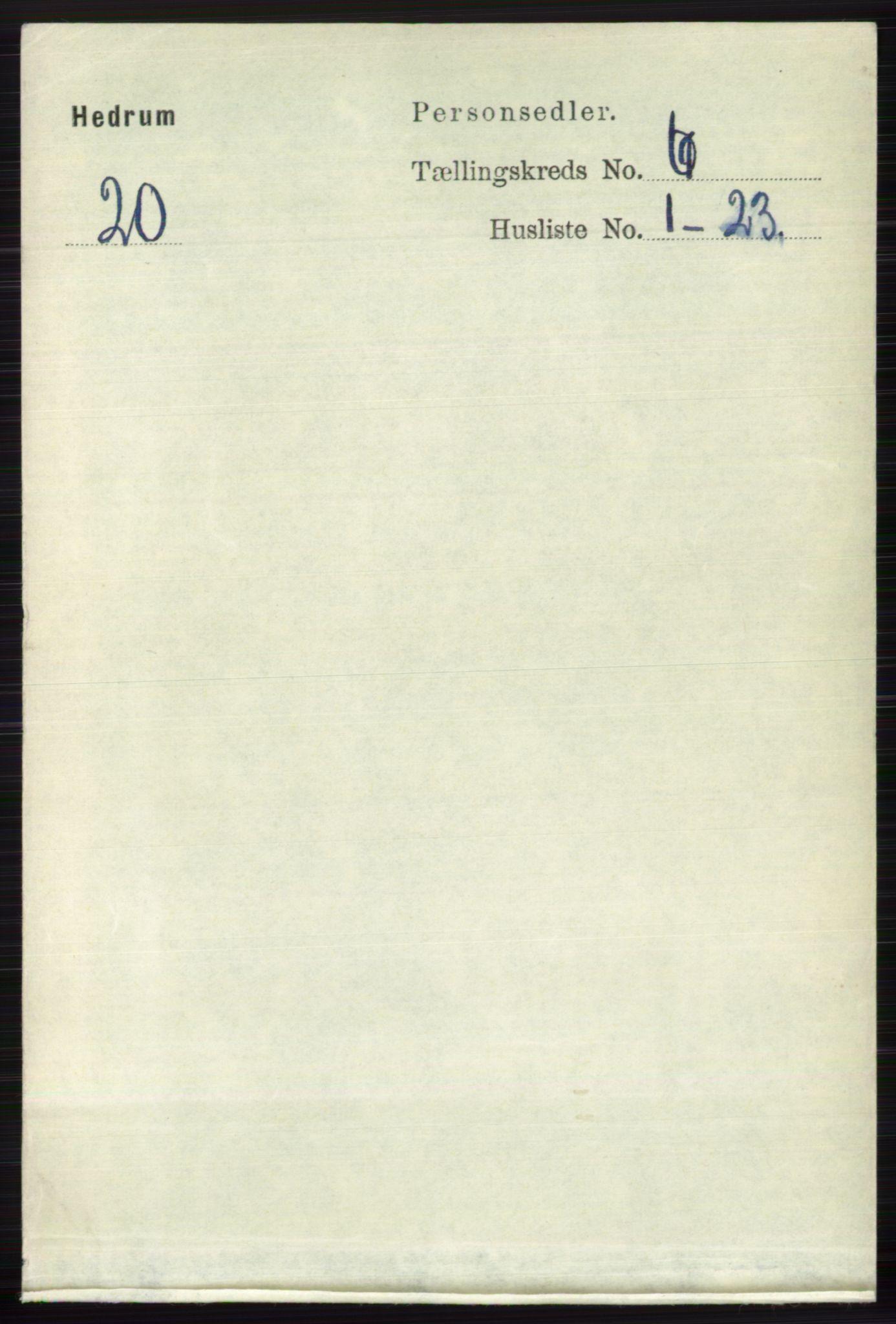 RA, Folketelling 1891 for 0727 Hedrum herred, 1891, s. 2539