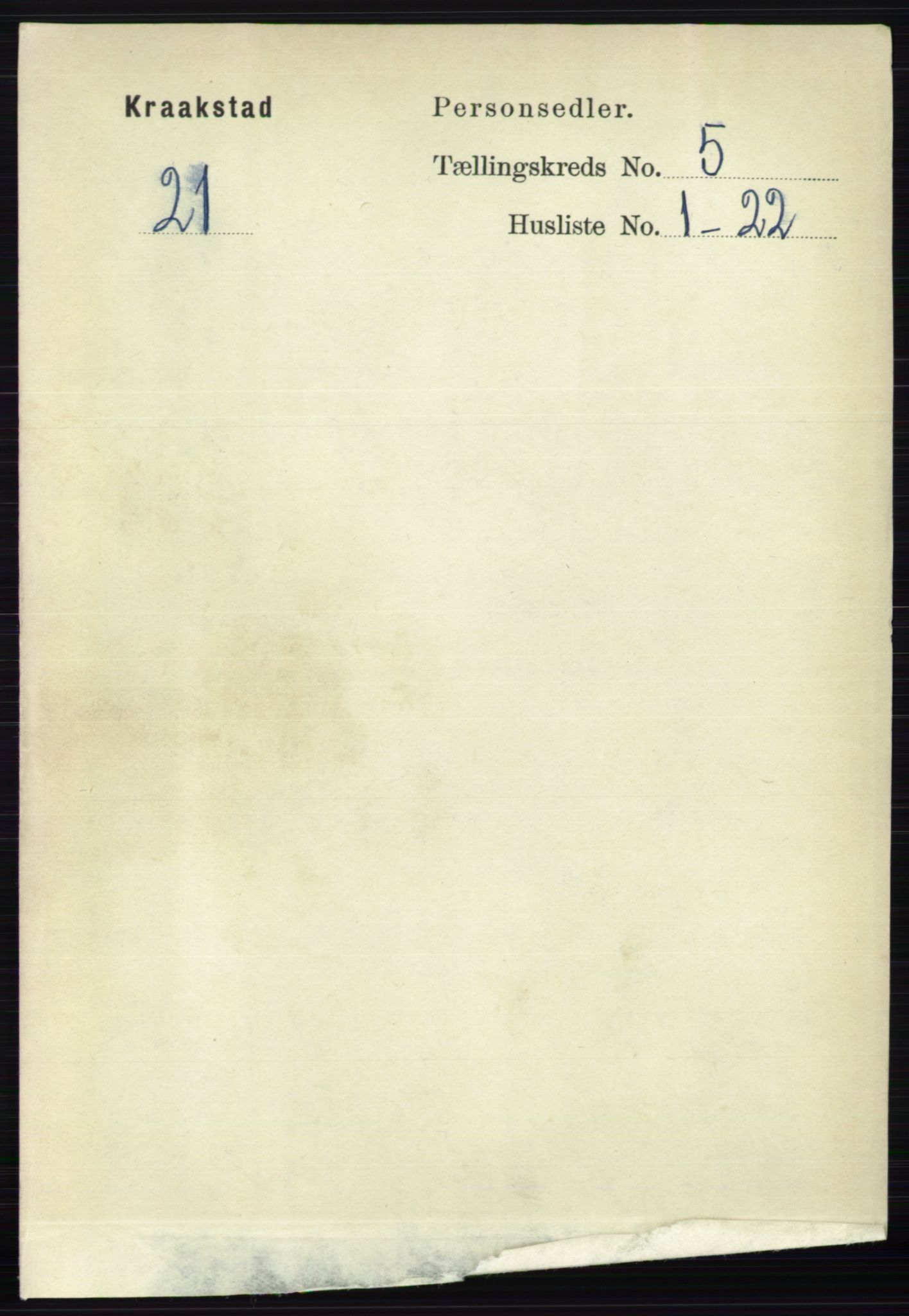 RA, Folketelling 1891 for 0212 Kråkstad herred, 1891, s. 2484