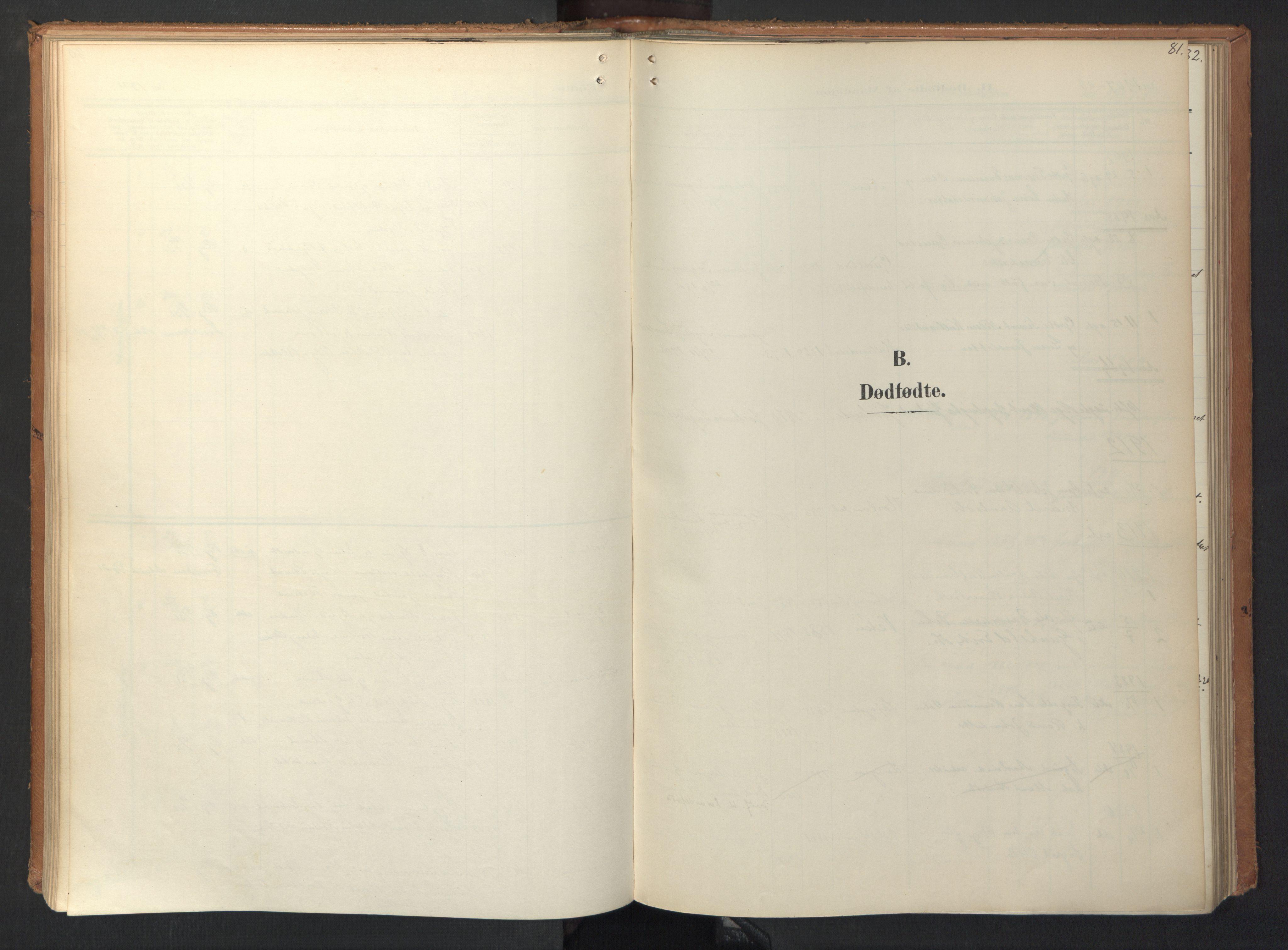 SAT, Ministerialprotokoller, klokkerbøker og fødselsregistre - Sør-Trøndelag, 694/L1128: Ministerialbok nr. 694A02, 1906-1931, s. 81