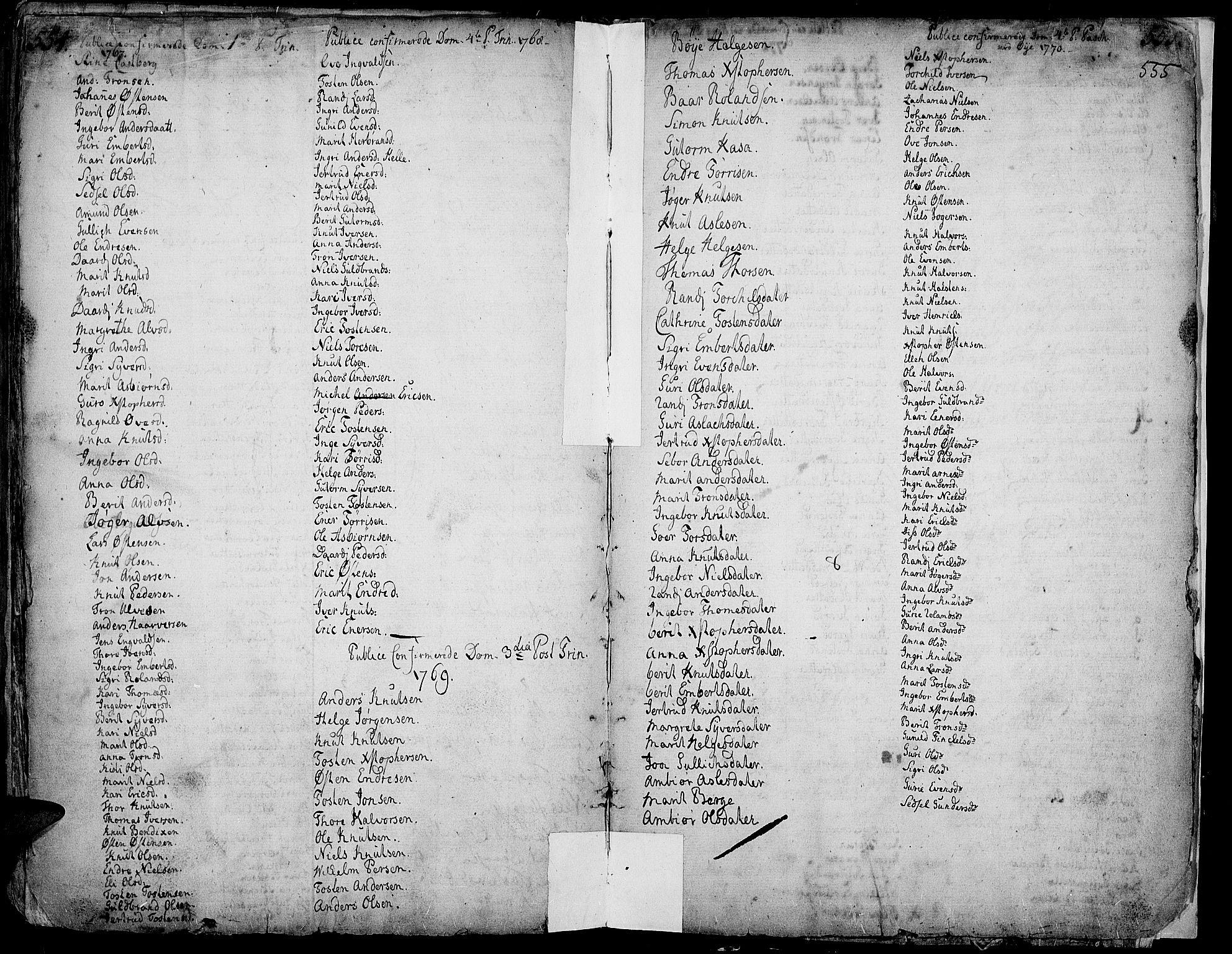 SAH, Vang prestekontor, Valdres, Ministerialbok nr. 1, 1730-1796, s. 554-555
