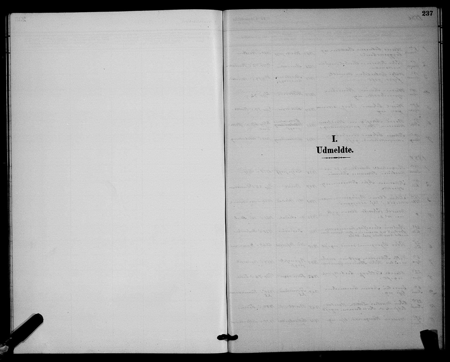 SAT, Ministerialprotokoller, klokkerbøker og fødselsregistre - Sør-Trøndelag, 604/L0223: Klokkerbok nr. 604C06, 1886-1897, s. 237