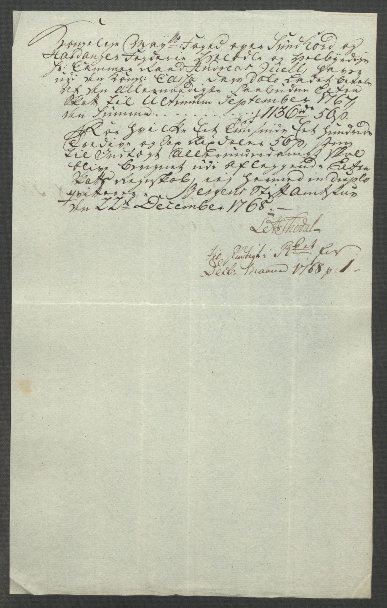 RA, Rentekammeret inntil 1814, Reviderte regnskaper, Fogderegnskap, R48/L3136: Ekstraskatten Sunnhordland og Hardanger, 1762-1772, s. 198