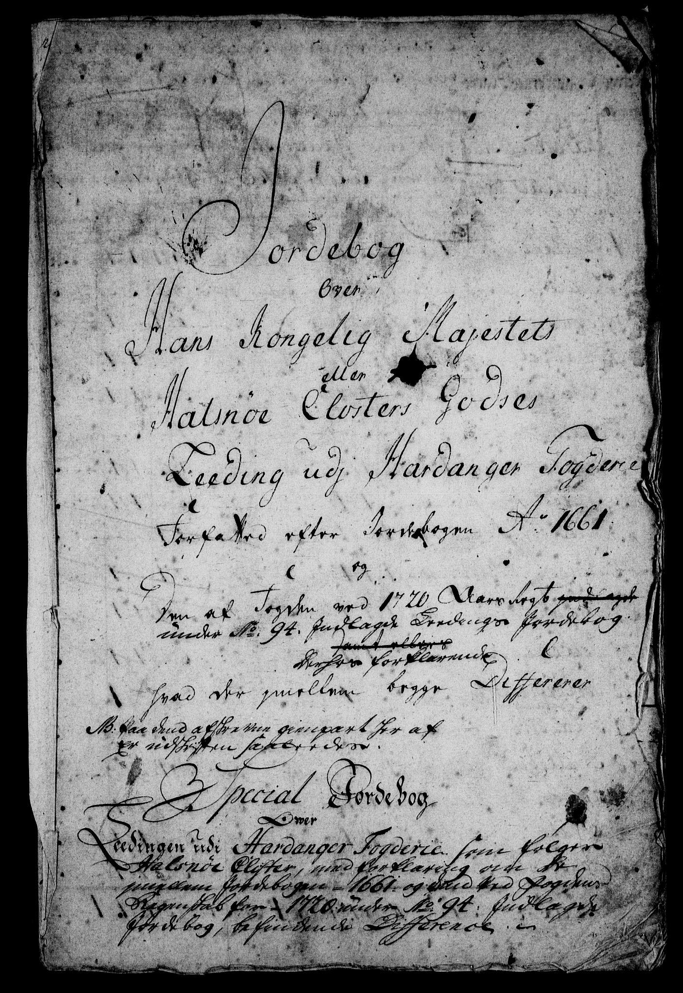 RA, Rentekammeret inntil 1814, Realistisk ordnet avdeling, On/L0005: [Jj 6]: Forskjellige dokumenter om Halsnøy klosters gods, 1697-1770, s. 331