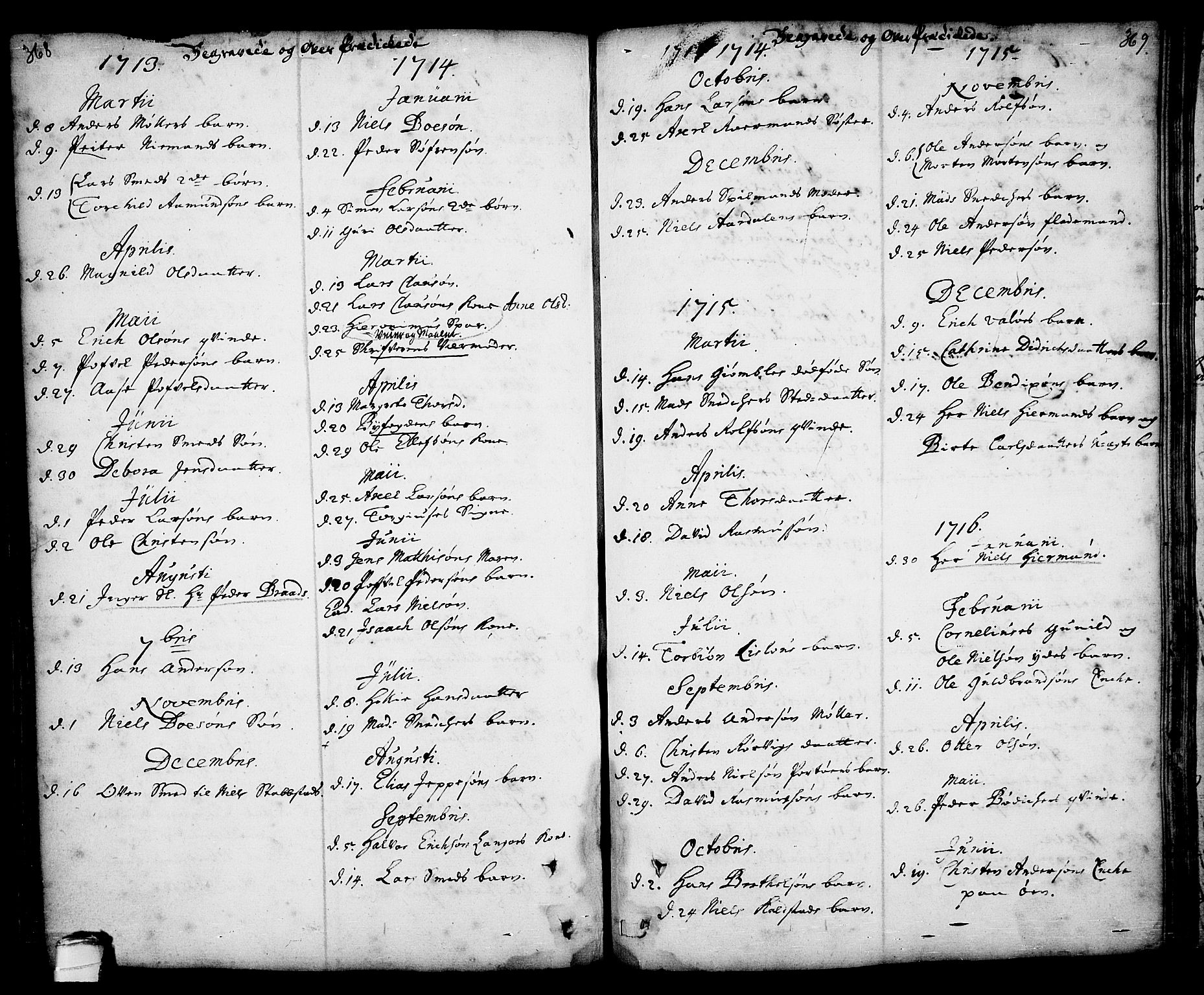 SAKO, Kragerø kirkebøker, F/Fa/L0001: Ministerialbok nr. 1, 1702-1766, s. 368-369