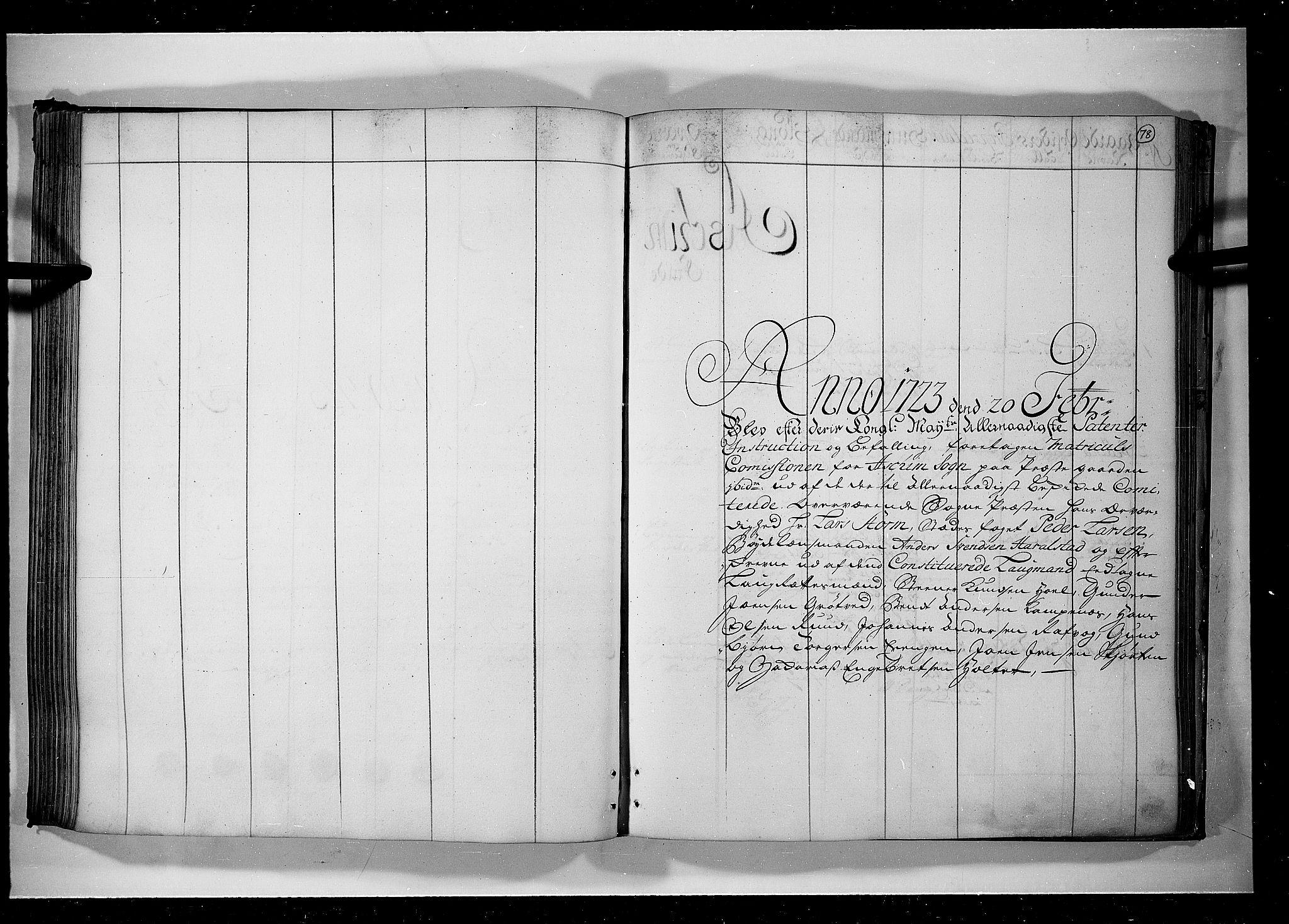 RA, Rentekammeret inntil 1814, Realistisk ordnet avdeling, N/Nb/Nbf/L0099: Rakkestad, Heggen og Frøland eksaminasjonsprotokoll, 1723, s. 77b-78a