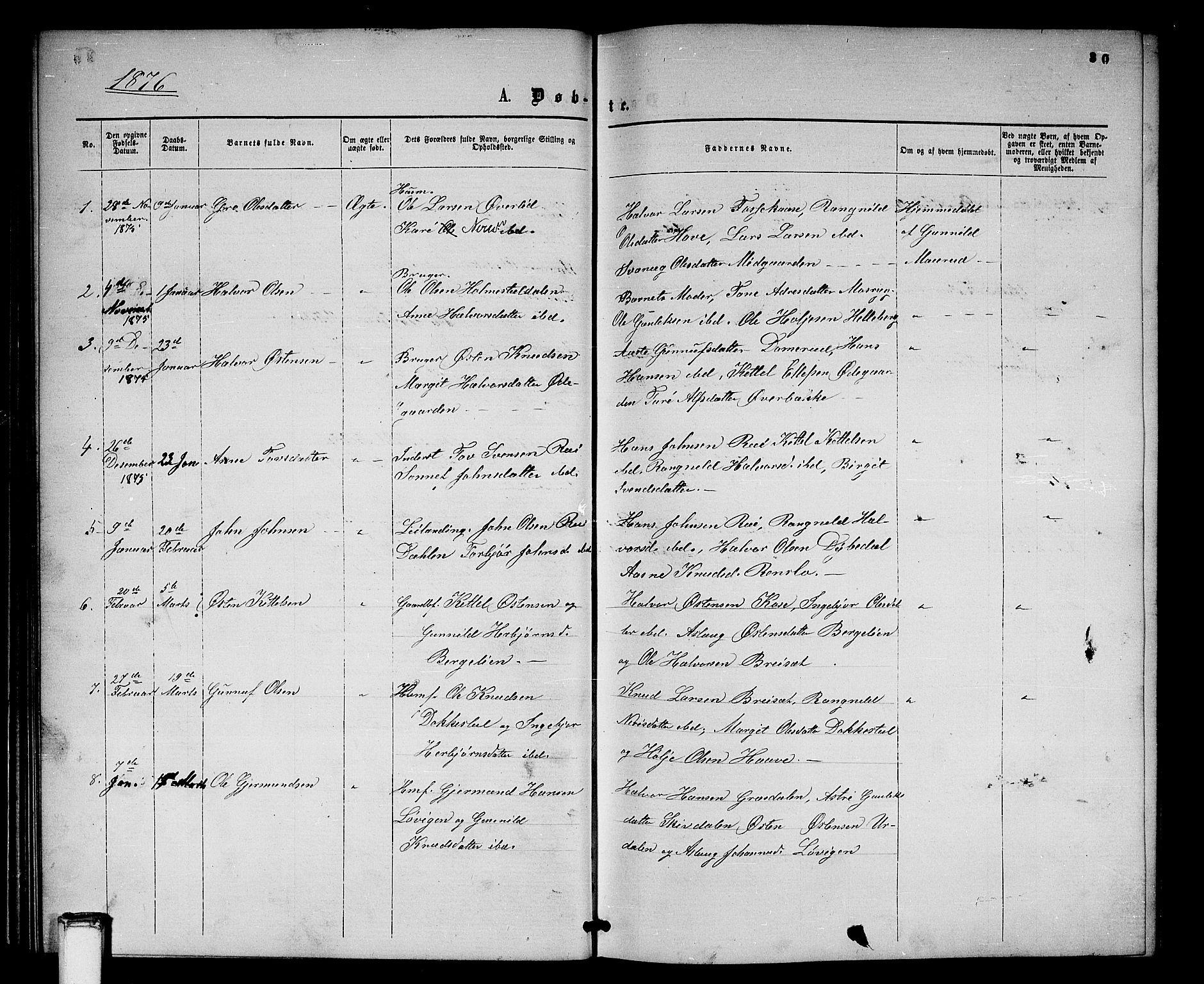 SAKO, Gransherad kirkebøker, G/Gb/L0002: Klokkerbok nr. II 2, 1860-1886, s. 30