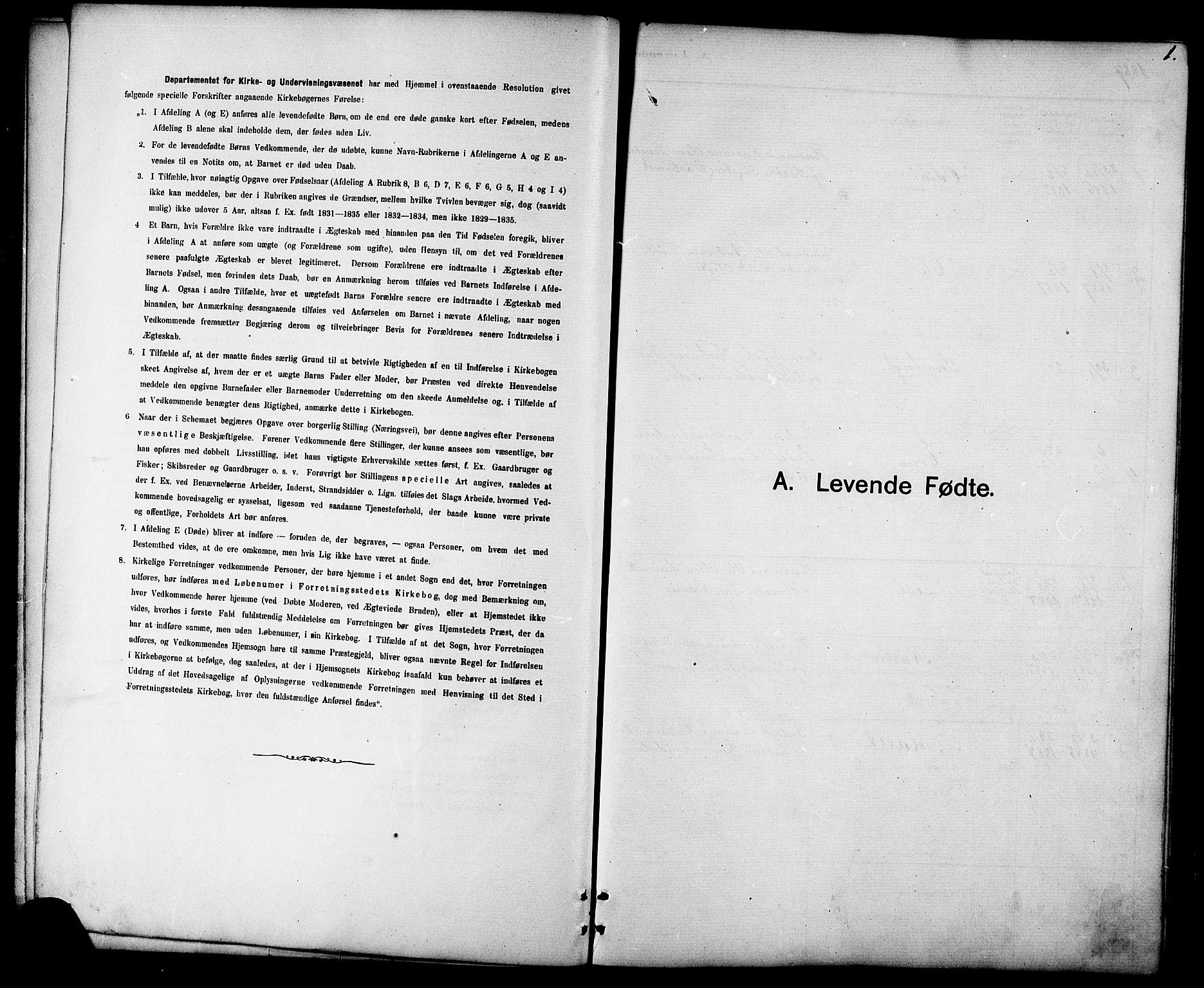 SAT, Ministerialprotokoller, klokkerbøker og fødselsregistre - Sør-Trøndelag, 694/L1132: Klokkerbok nr. 694C04, 1887-1914, s. 1