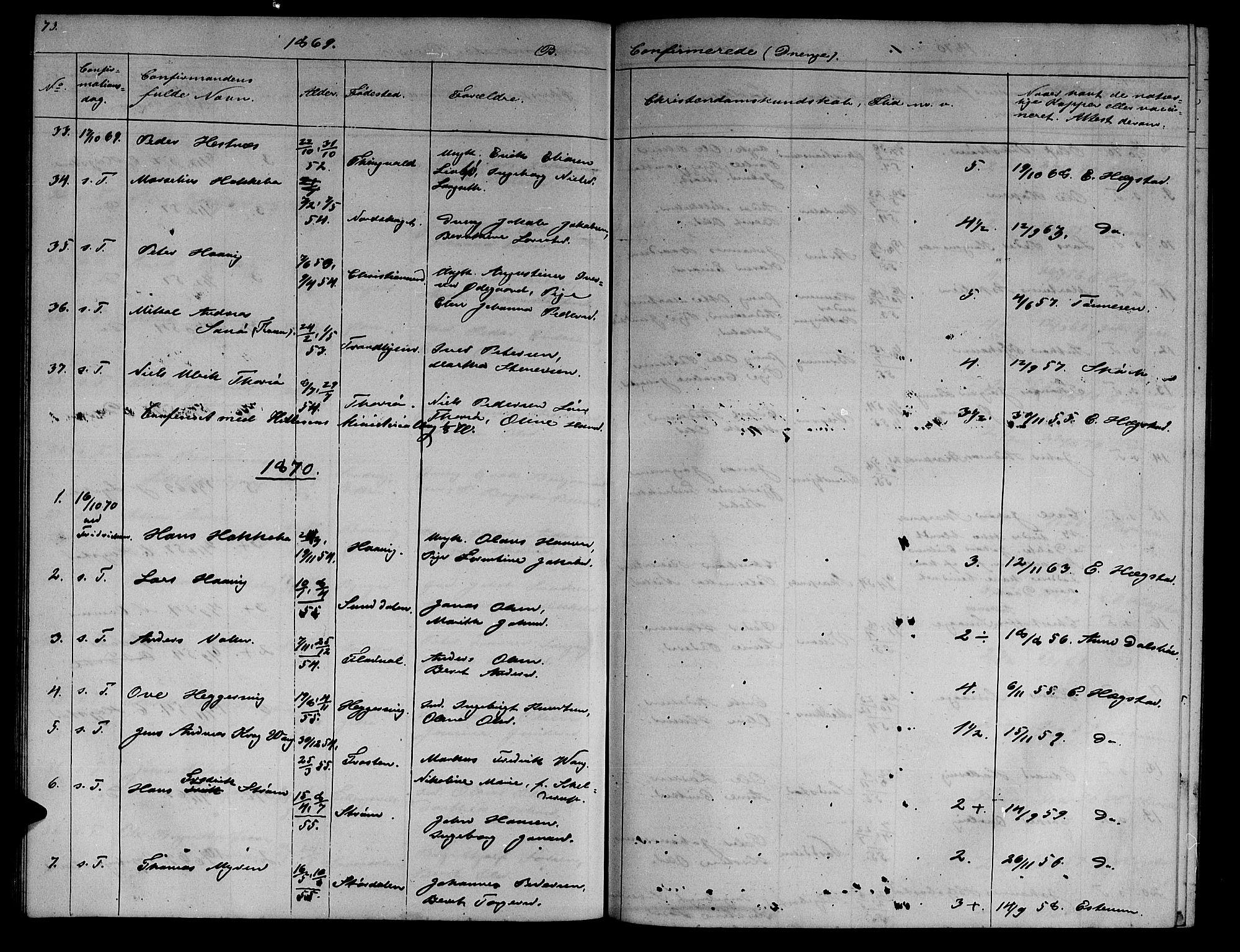 SAT, Ministerialprotokoller, klokkerbøker og fødselsregistre - Sør-Trøndelag, 634/L0539: Klokkerbok nr. 634C01, 1866-1873, s. 73