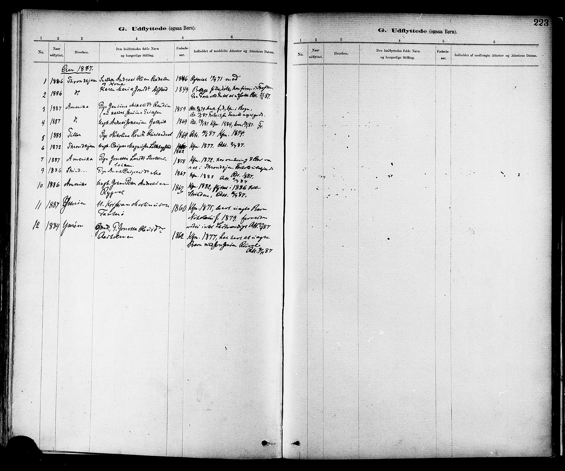 SAT, Ministerialprotokoller, klokkerbøker og fødselsregistre - Nord-Trøndelag, 713/L0120: Ministerialbok nr. 713A09, 1878-1887, s. 223