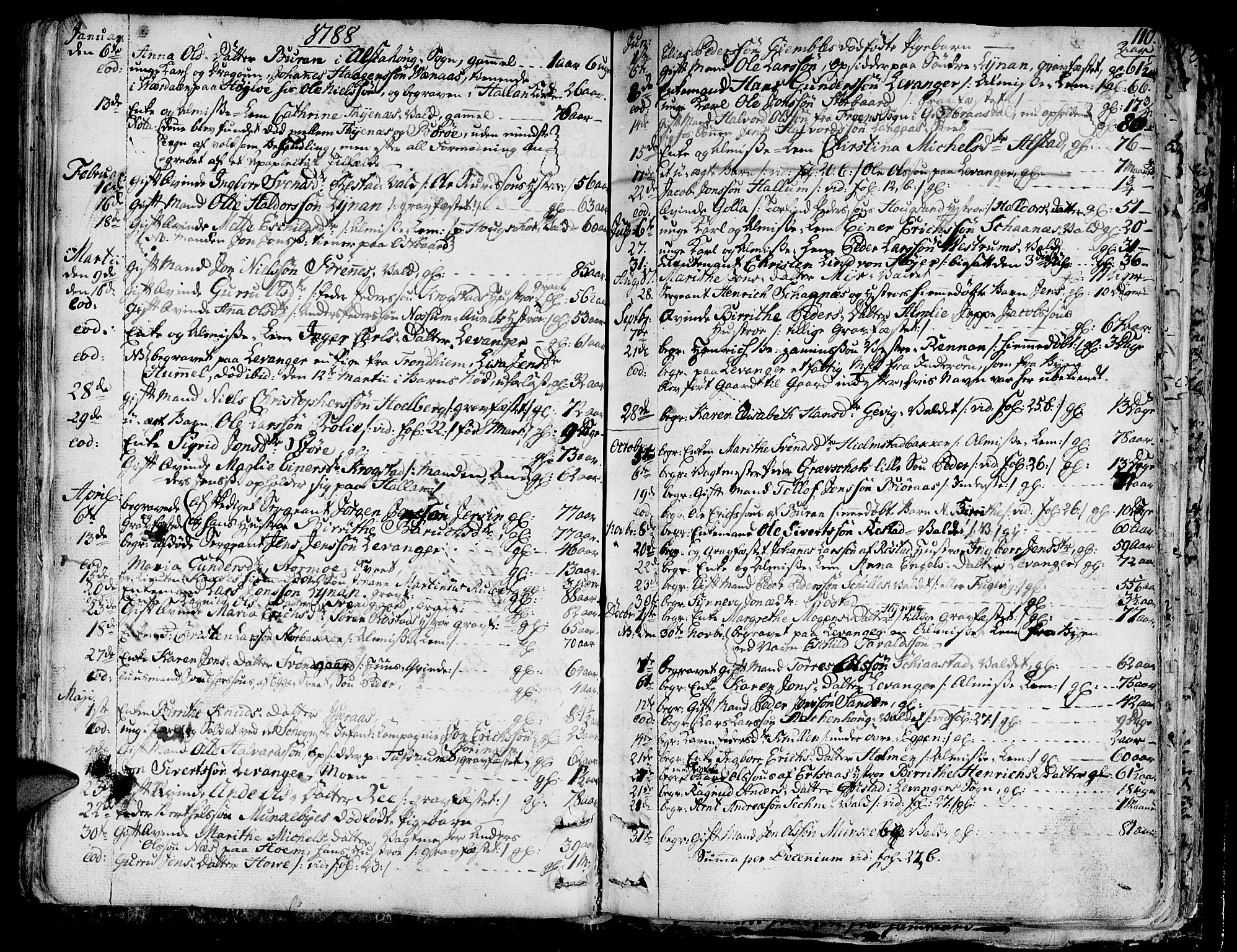 SAT, Ministerialprotokoller, klokkerbøker og fødselsregistre - Nord-Trøndelag, 717/L0142: Ministerialbok nr. 717A02 /1, 1783-1809, s. 110