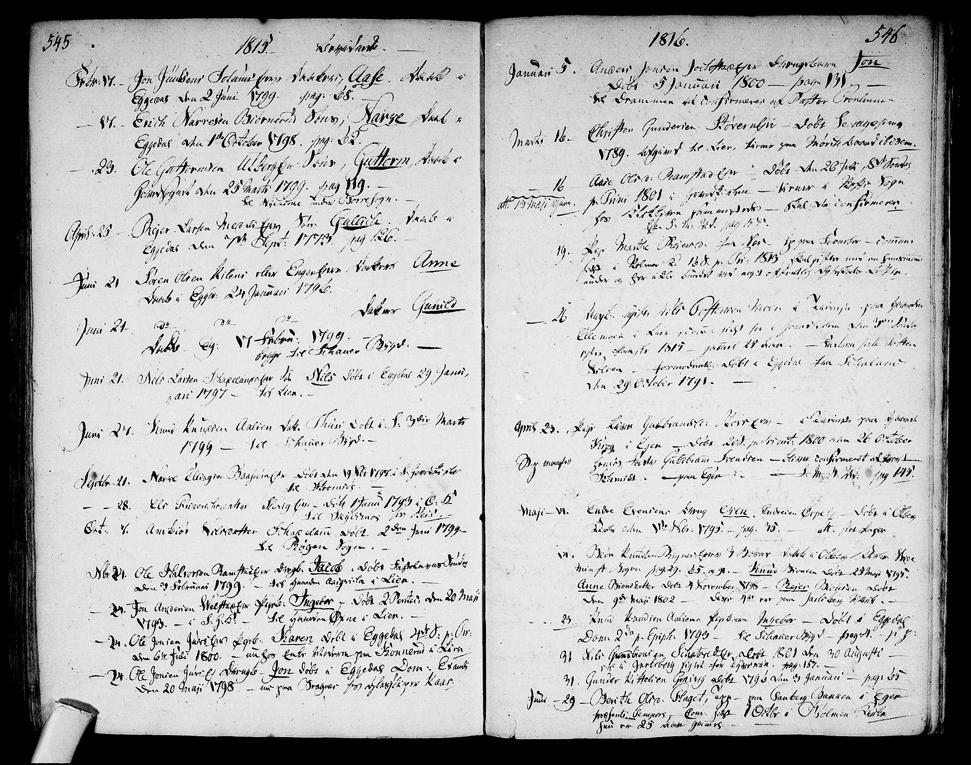 SAKO, Sigdal kirkebøker, F/Fa/L0003: Ministerialbok nr. I 3, 1793-1811, s. 545-546