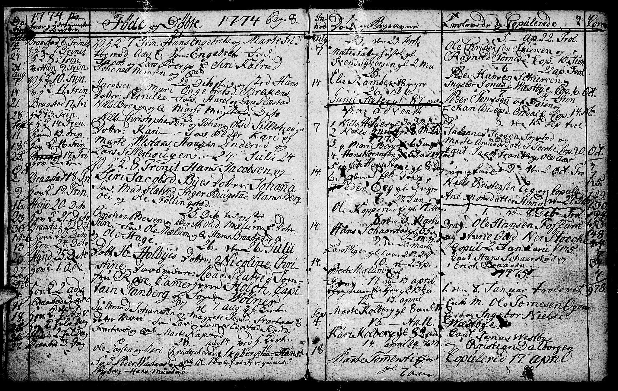 SAH, Vardal prestekontor, H/Ha/Hab/L0001: Klokkerbok nr. 1, 1771-1790, s. 8-9