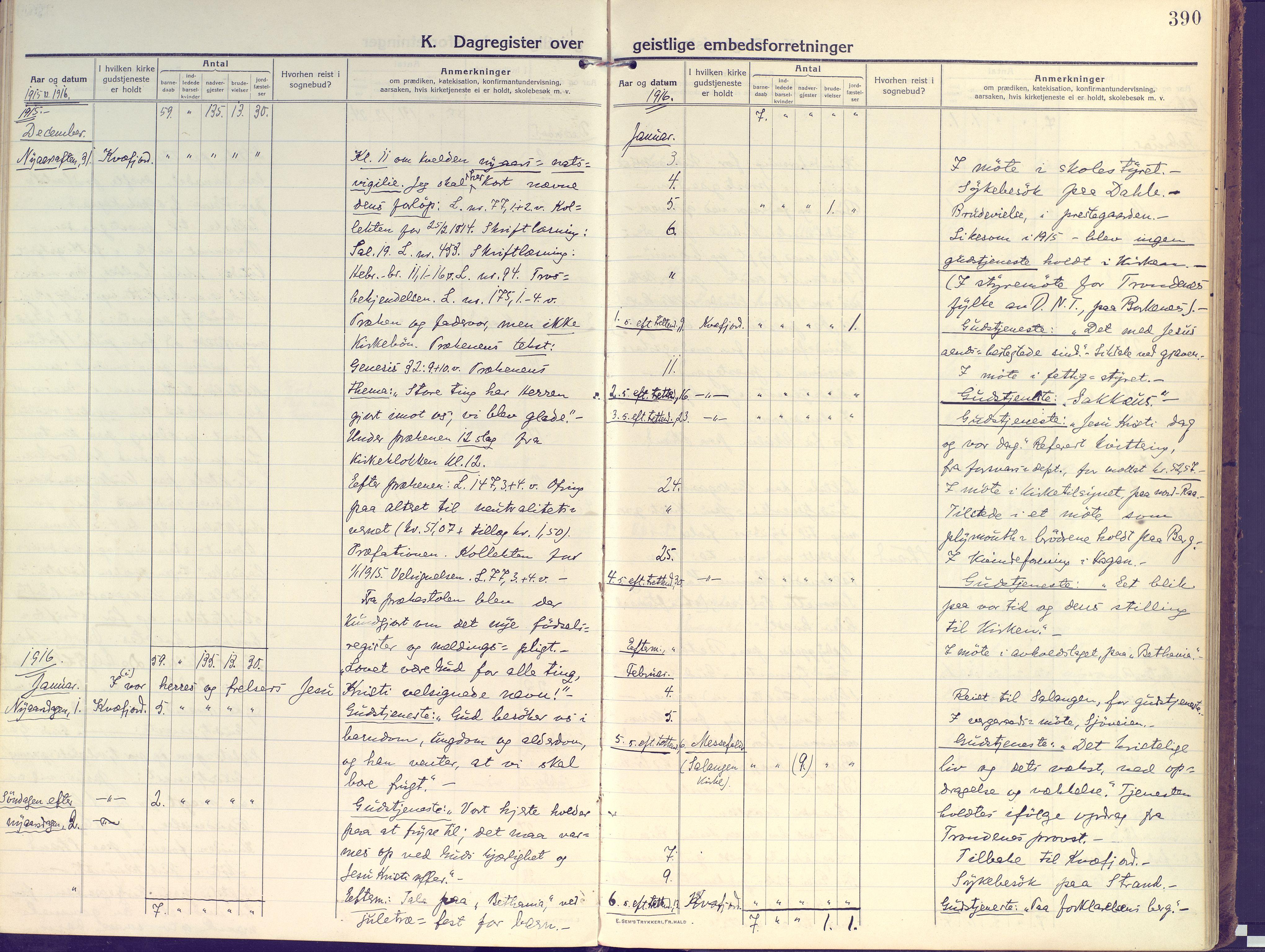 SATØ, Kvæfjord sokneprestkontor, G/Ga/Gaa/L0007kirke: Ministerialbok nr. 7, 1915-1931, s. 390