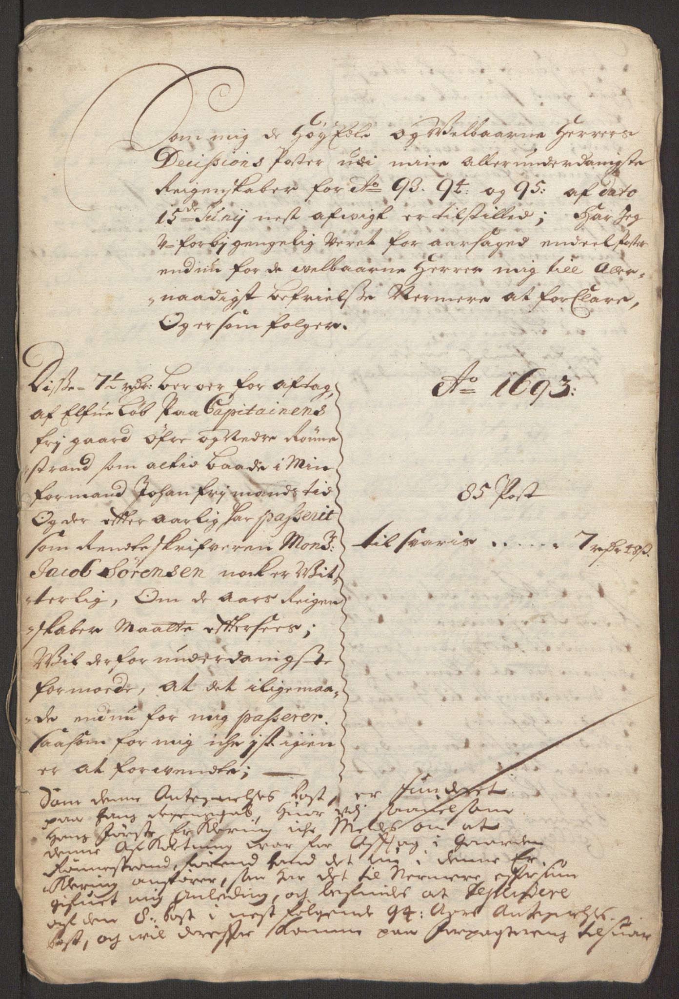 RA, Rentekammeret inntil 1814, Reviderte regnskaper, Fogderegnskap, R48/L2976: Fogderegnskap Sunnhordland og Hardanger, 1695-1696, s. 231