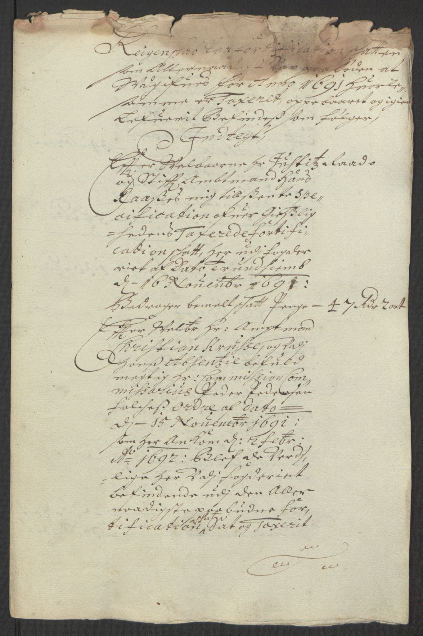 RA, Rentekammeret inntil 1814, Reviderte regnskaper, Fogderegnskap, R67/L4676: Fogderegnskap Vesterålen, Andenes og Lofoten, 1691-1693, s. 96