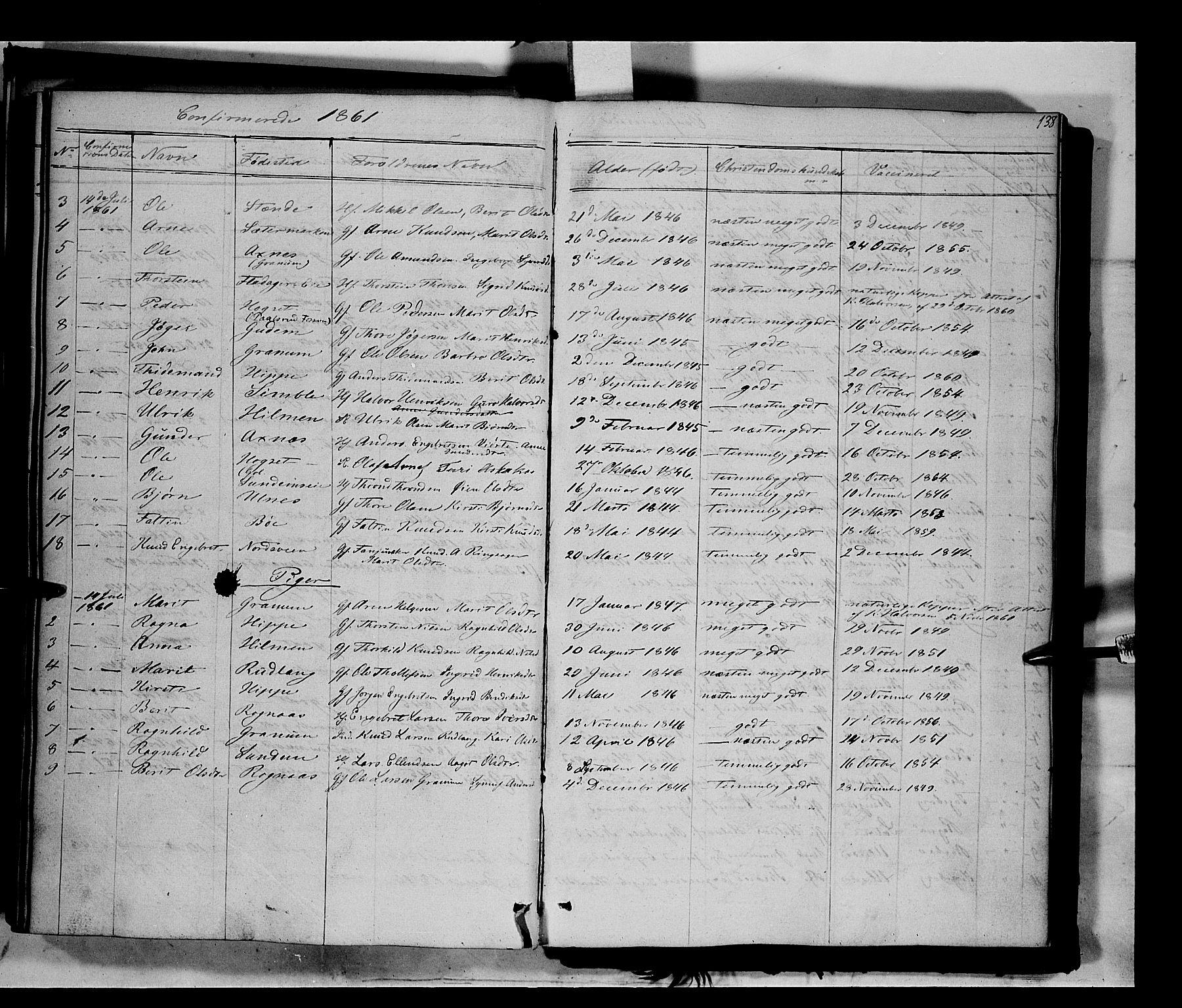 SAH, Nord-Aurdal prestekontor, Ministerialbok nr. 6, 1842-1863, s. 138
