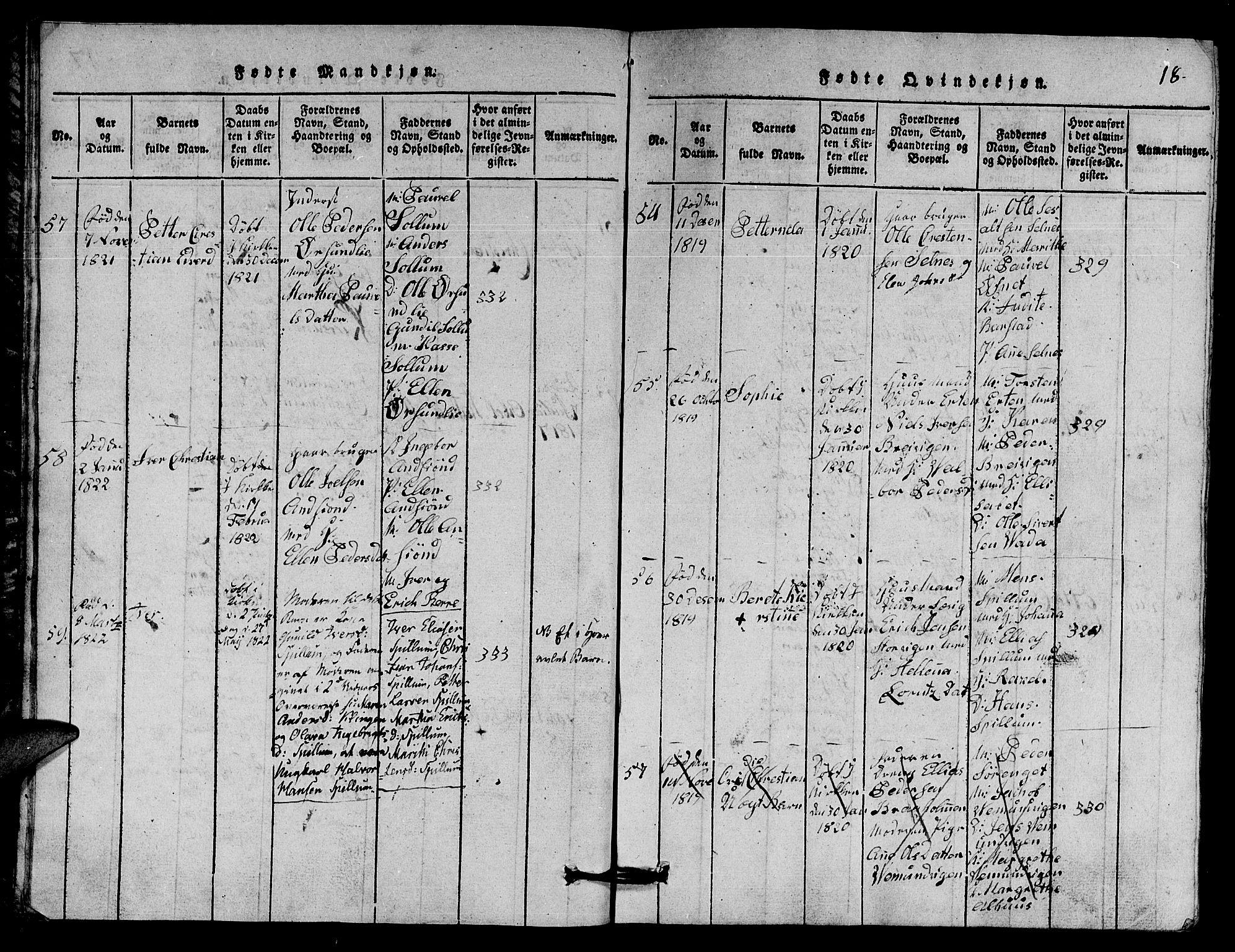 SAT, Ministerialprotokoller, klokkerbøker og fødselsregistre - Nord-Trøndelag, 770/L0590: Klokkerbok nr. 770C01, 1815-1824, s. 18