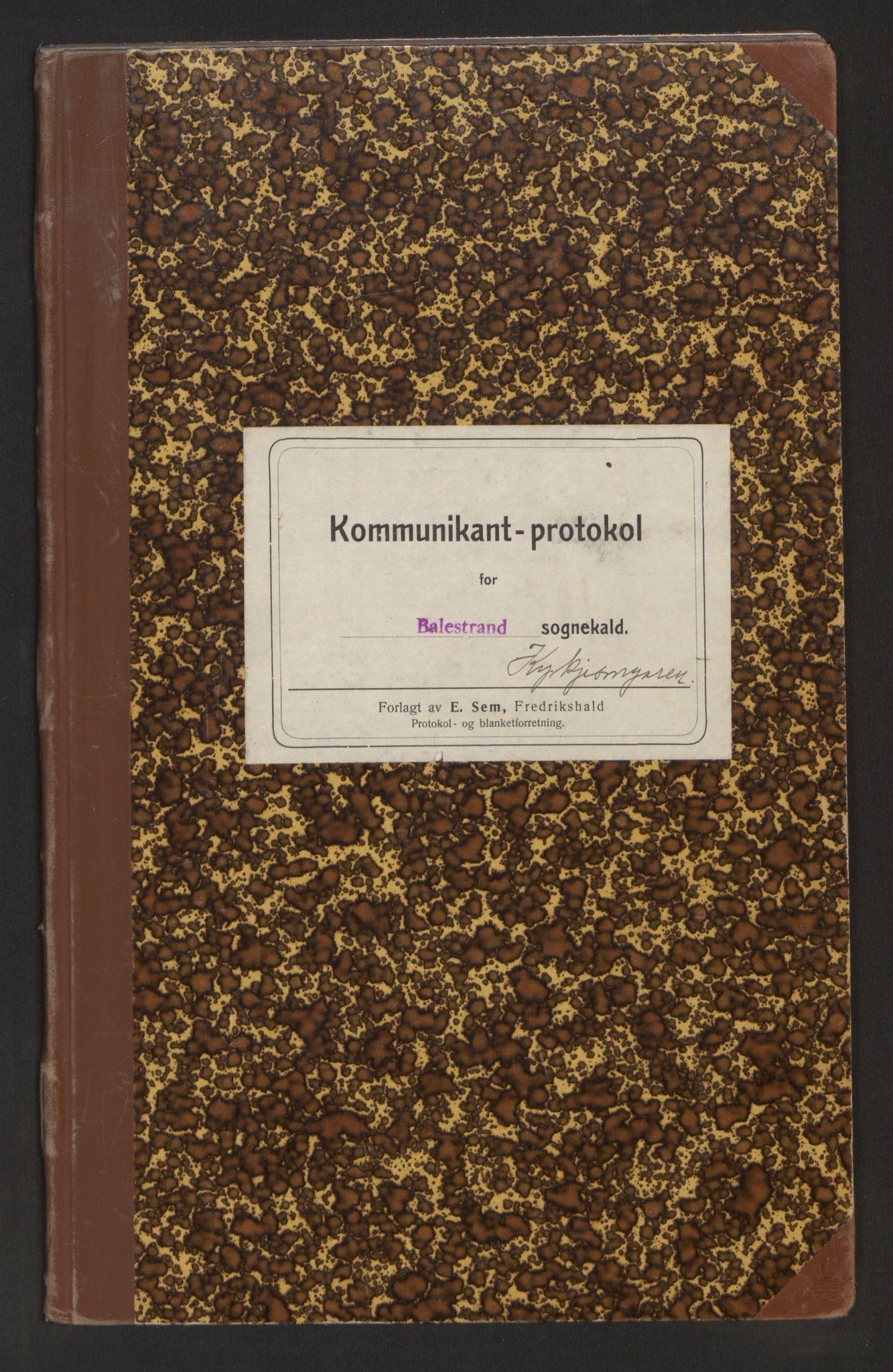 SAB, Balestrand Sokneprestembete, H/Hb/Hba/L0004: Kommunikantprotokoll nr. A 4, 1937-1964