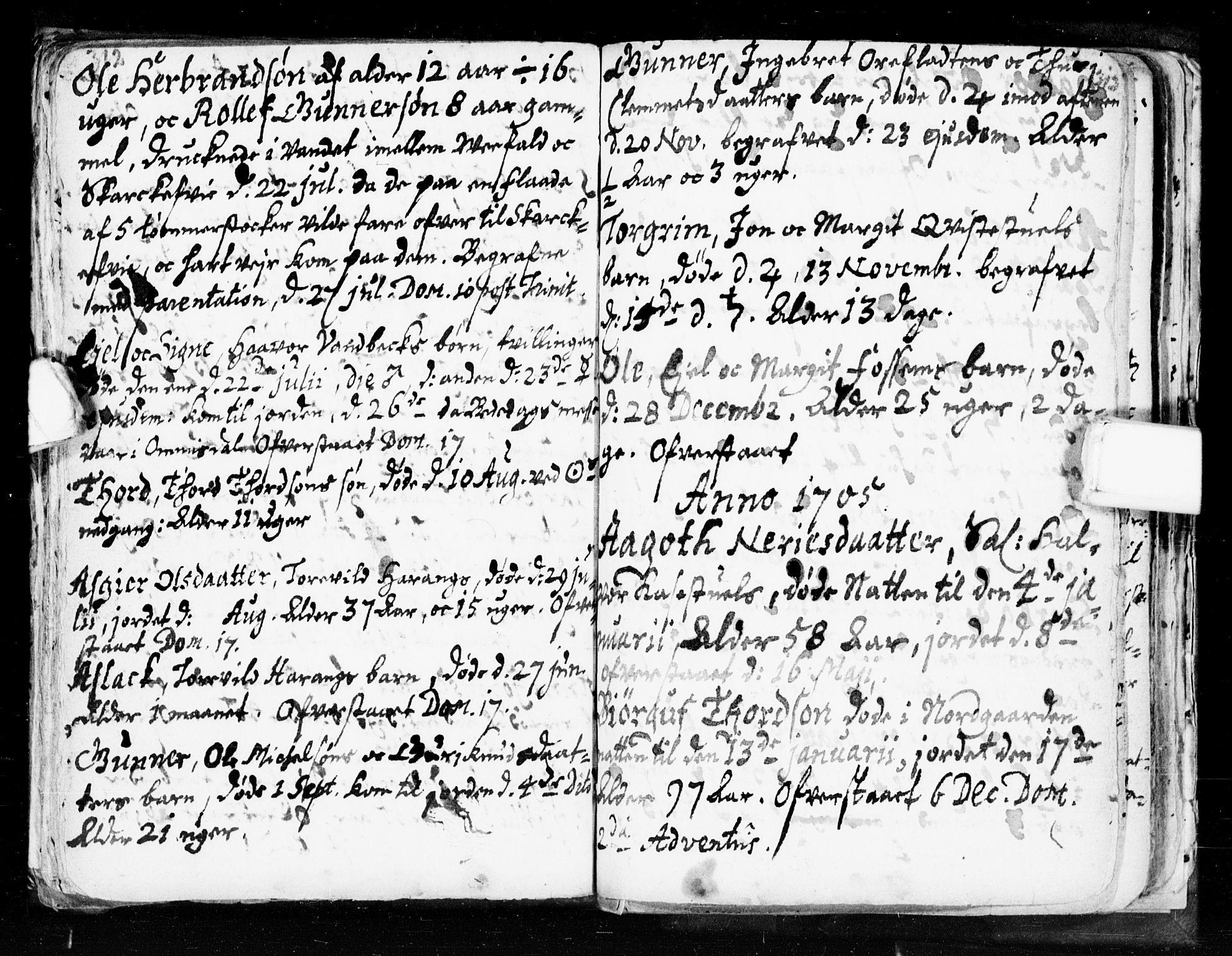 SAKO, Seljord kirkebøker, F/Fa/L0002: Ministerialbok nr. I 2, 1689-1713, s. 312-313