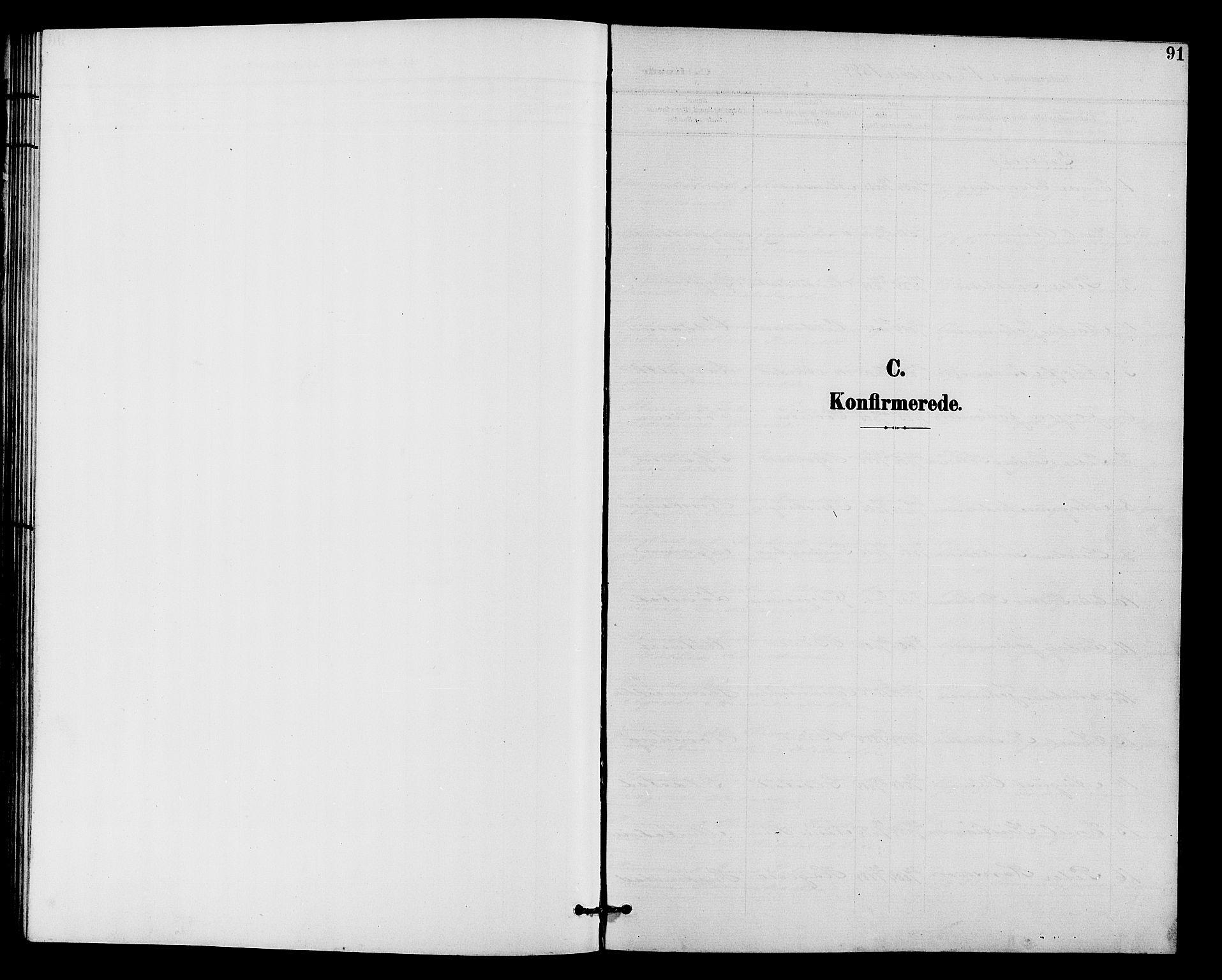 SAH, Vardal prestekontor, H/Ha/Hab/L0011: Klokkerbok nr. 11, 1899-1913, s. 91